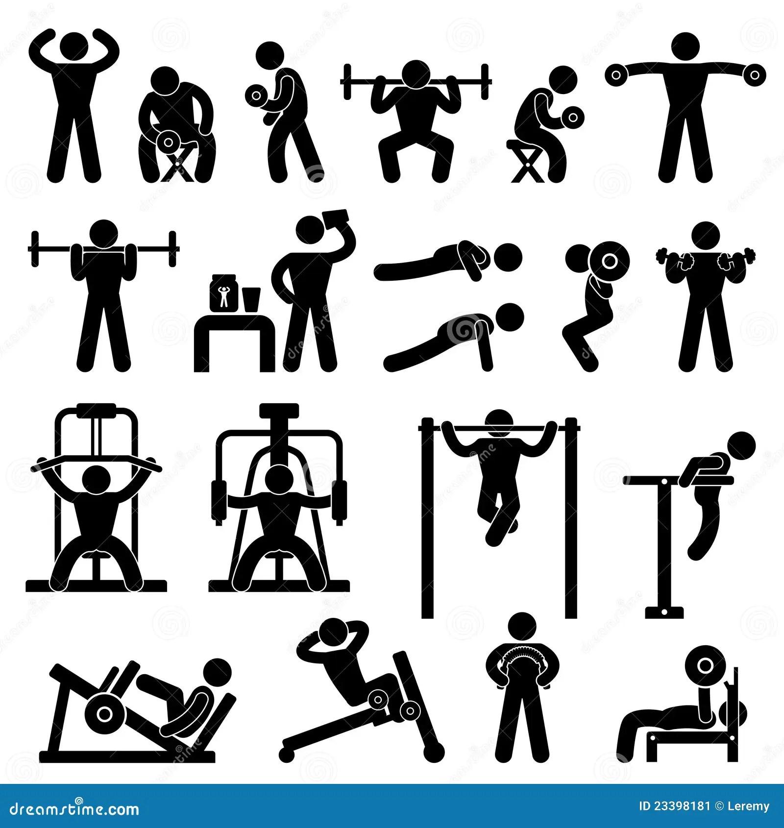 Gym Gymnasium Body Building Exercise Training Stock Image