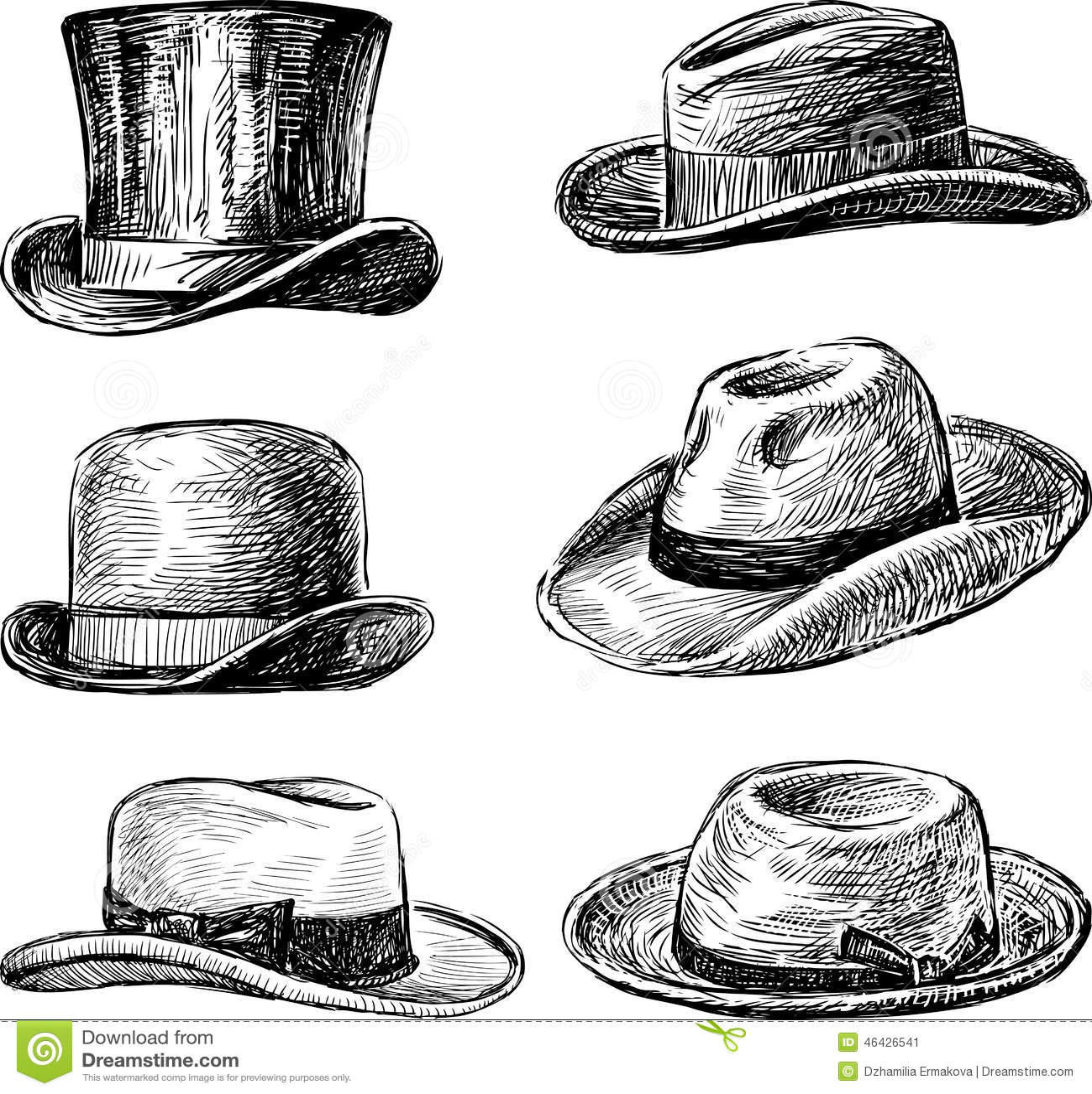 Vintage Fedora Hats Men