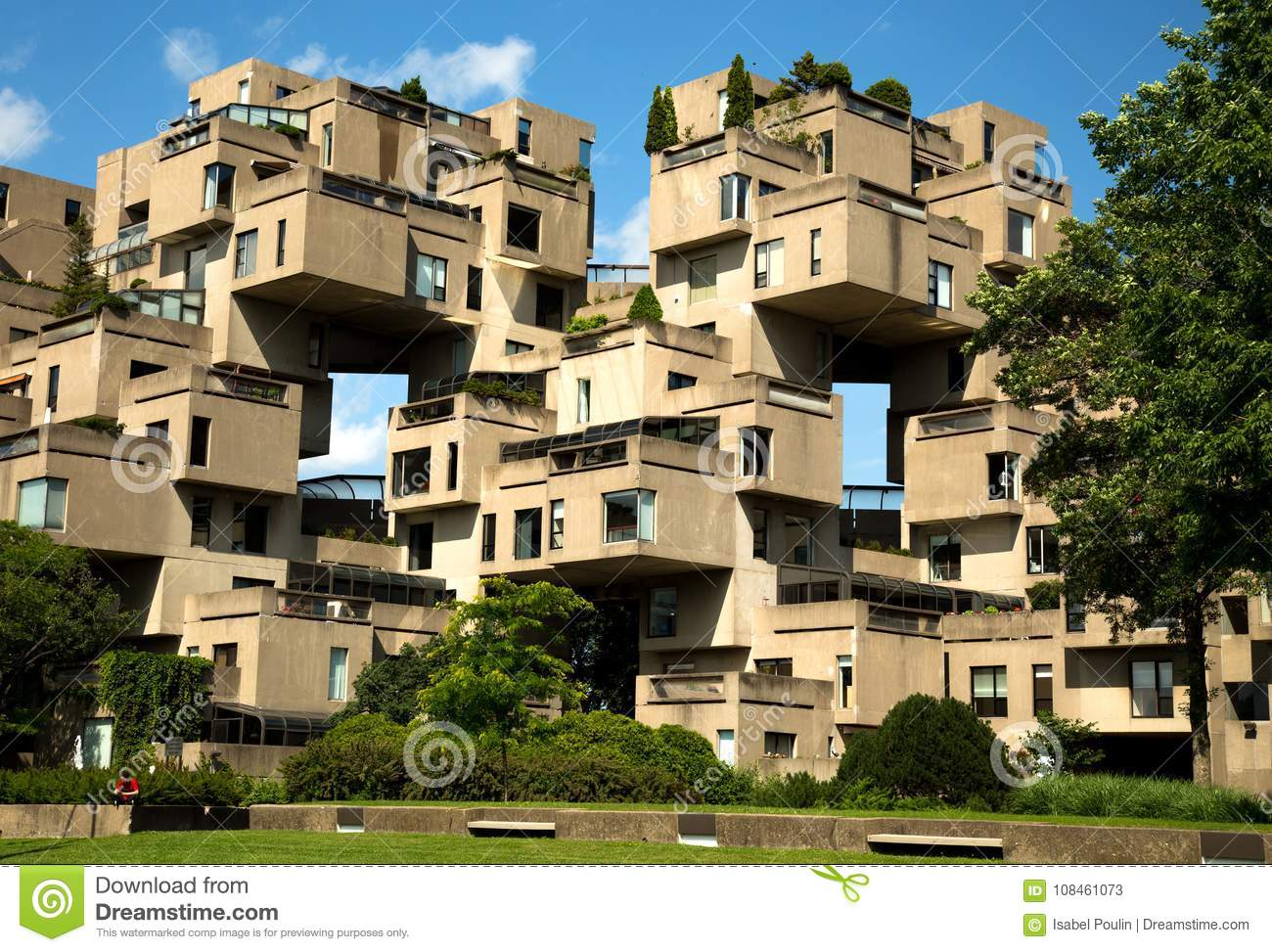 Habitat 67 In Montreal In Canada Editorial Stock Photo