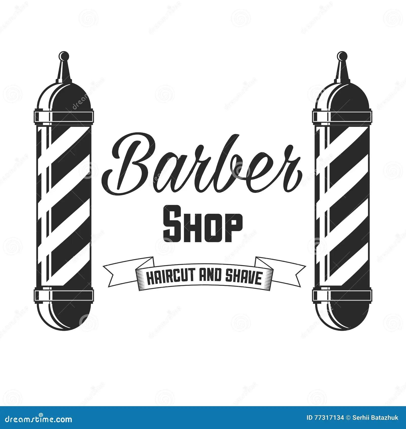 Hair Salon Vector Labels In Vintage Style Hair Cut Beauty