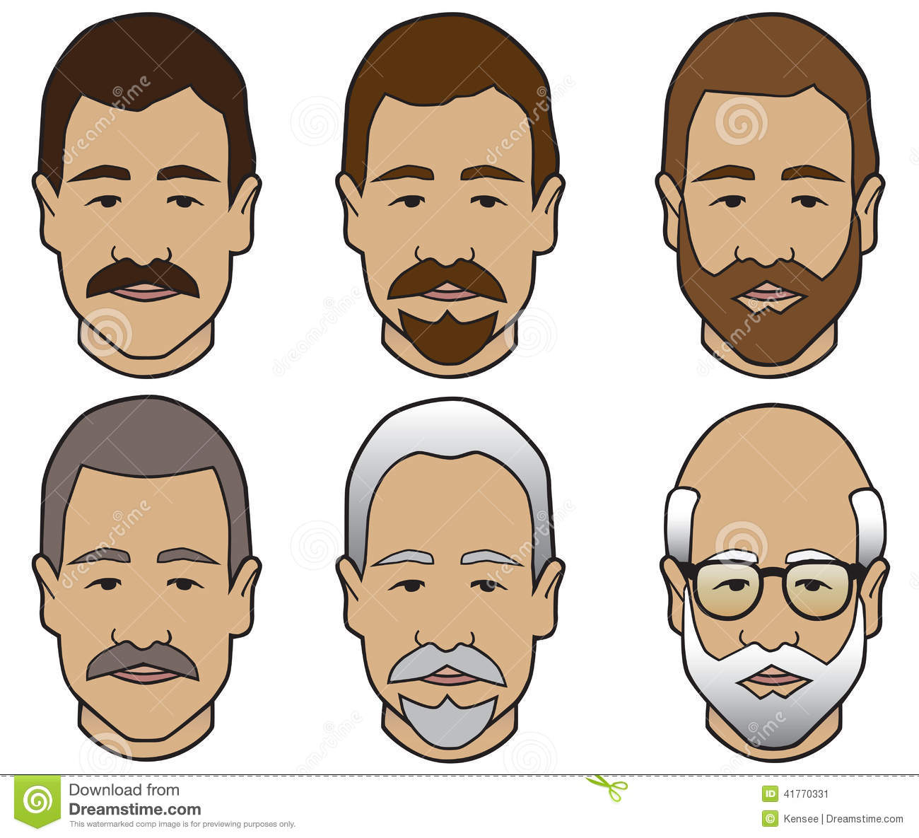 Hair Stages Stock Vector Illustration Of Goatee Fashion
