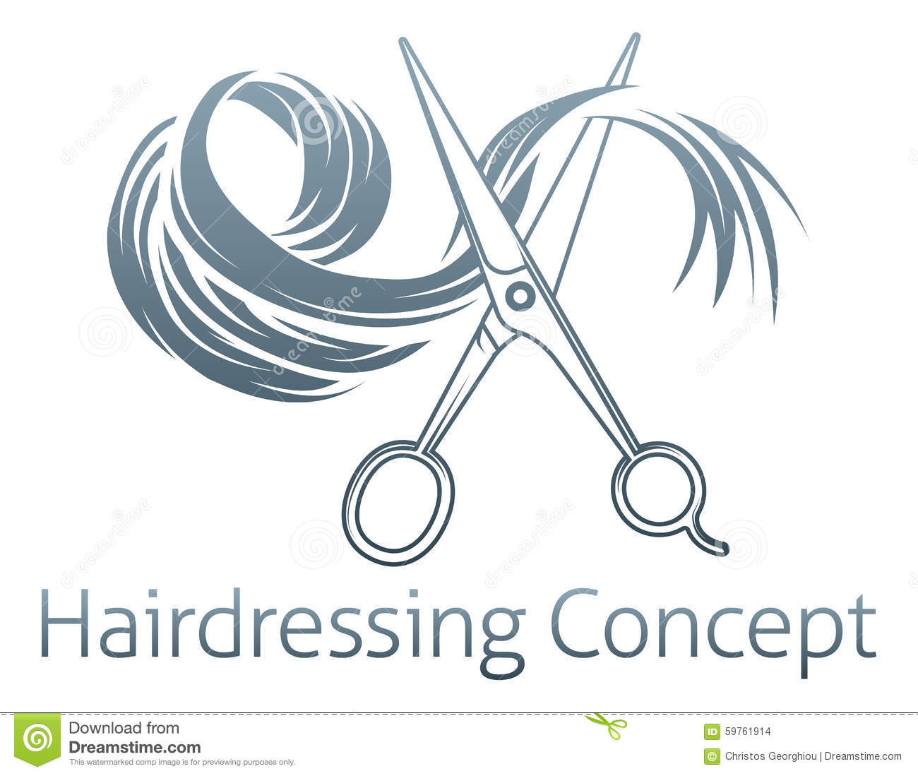 Hairdressing Concept Stock Vector Image 59761914