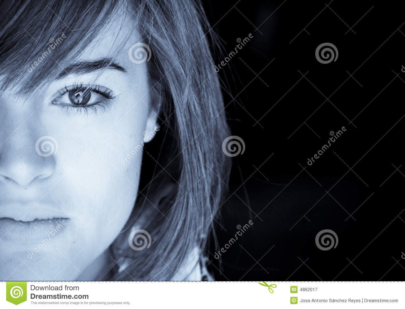 Half Face Portrait Royalty Free Stock Photography