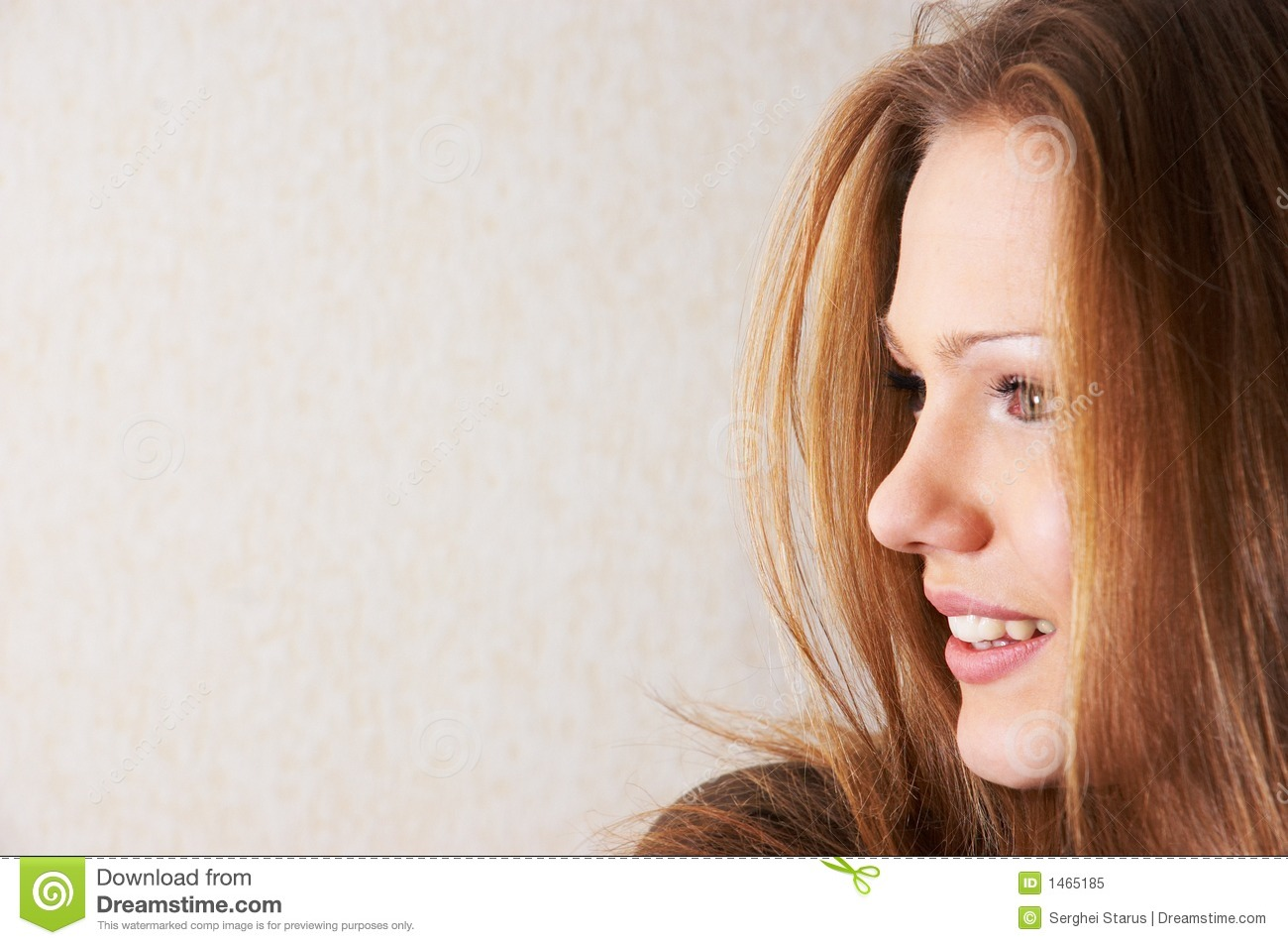 Half Face Portrait Of Beautiful Girl Stock Image