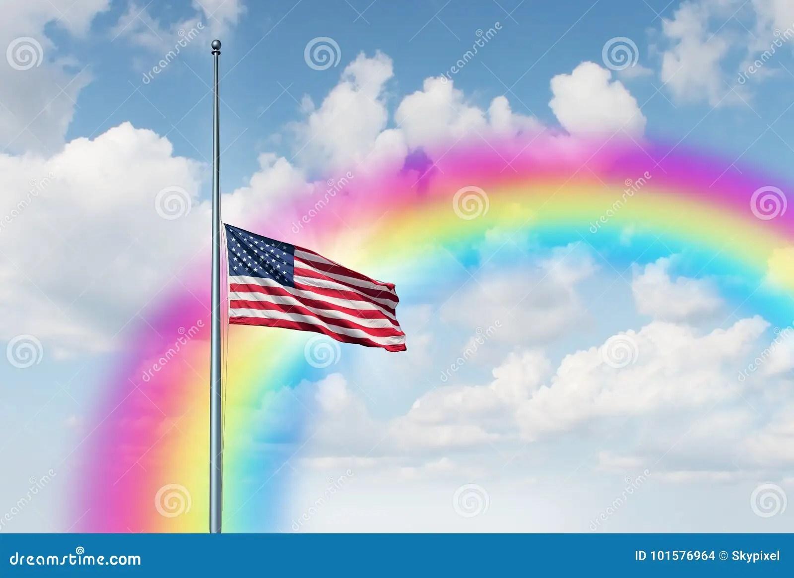 White Flag Mast Half