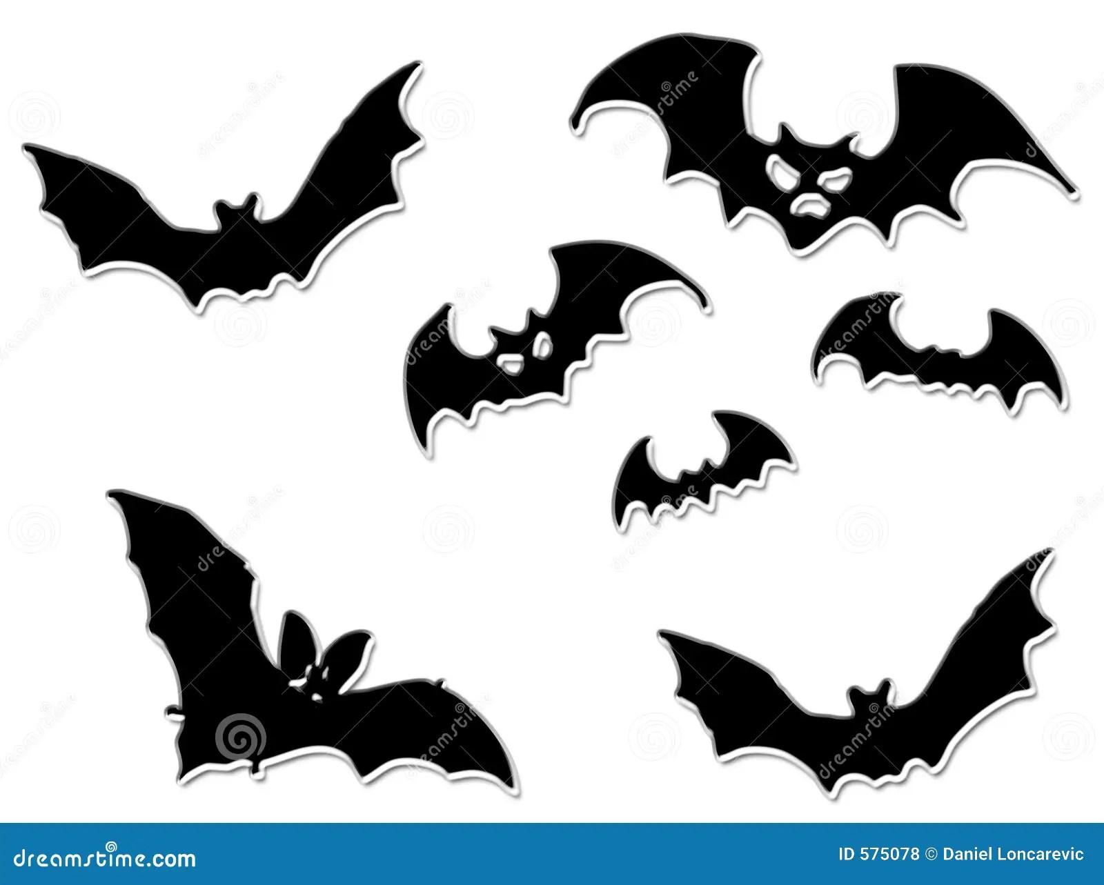Halloween Bats Flying Royalty Free Stock Photos