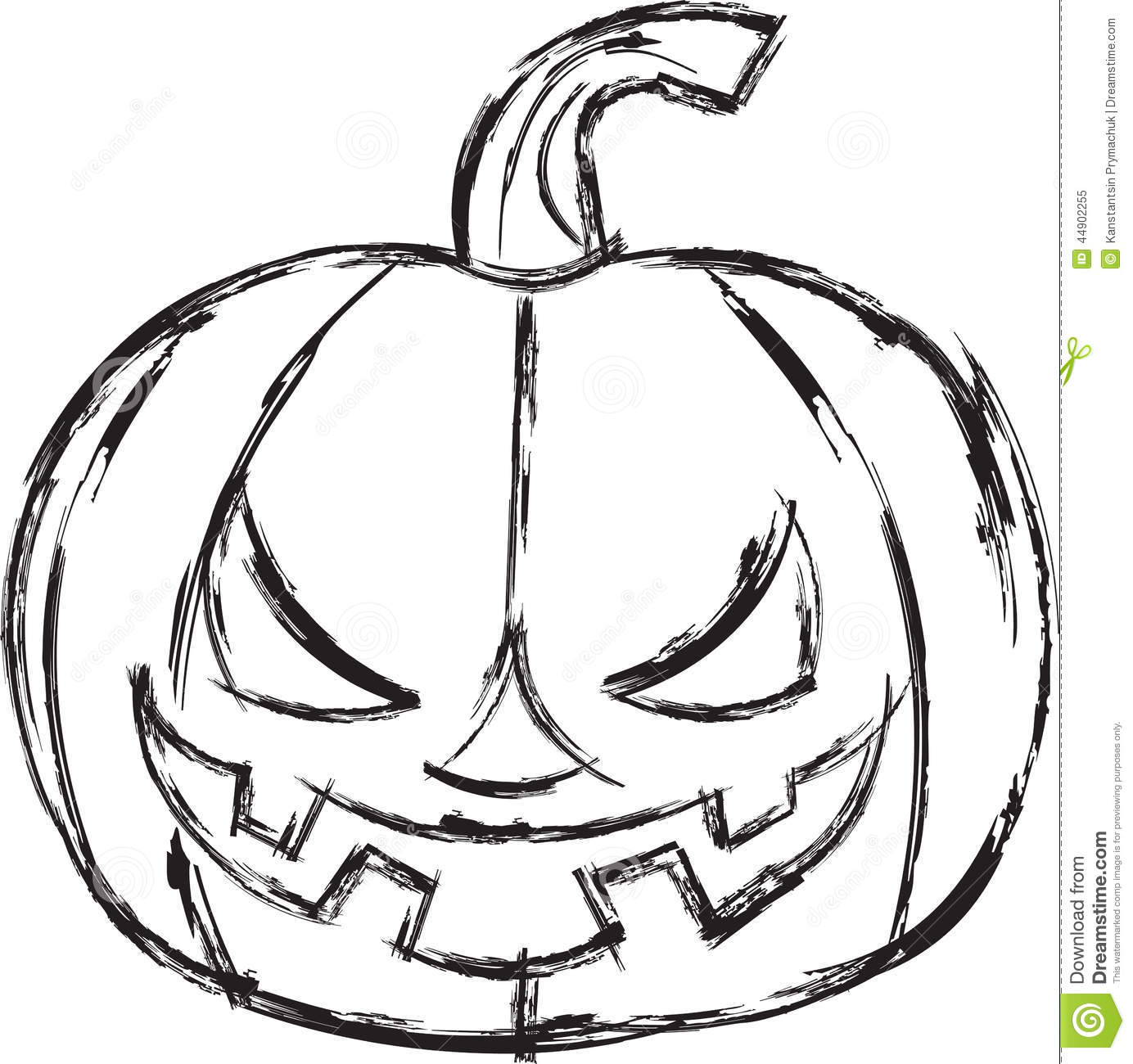 Halloween Cartoon Pumpkin Vector Illustration Stock