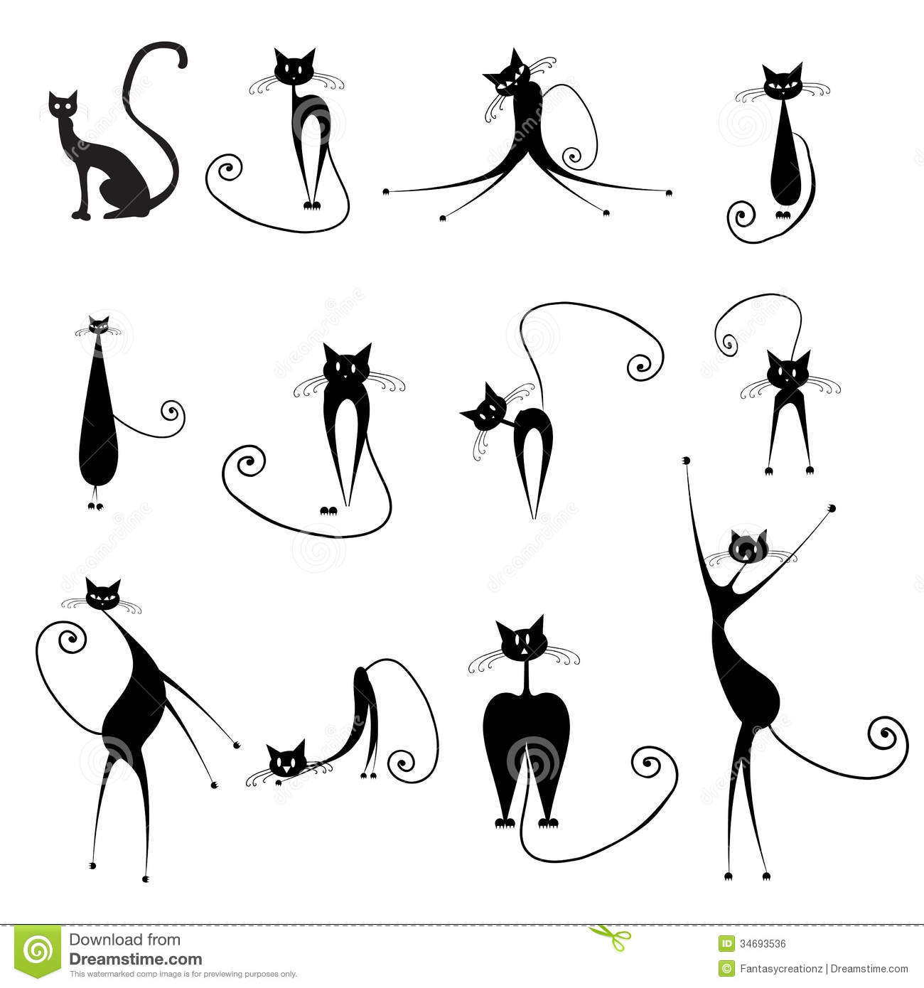 Halloween Cats Royalty Free Stock Image