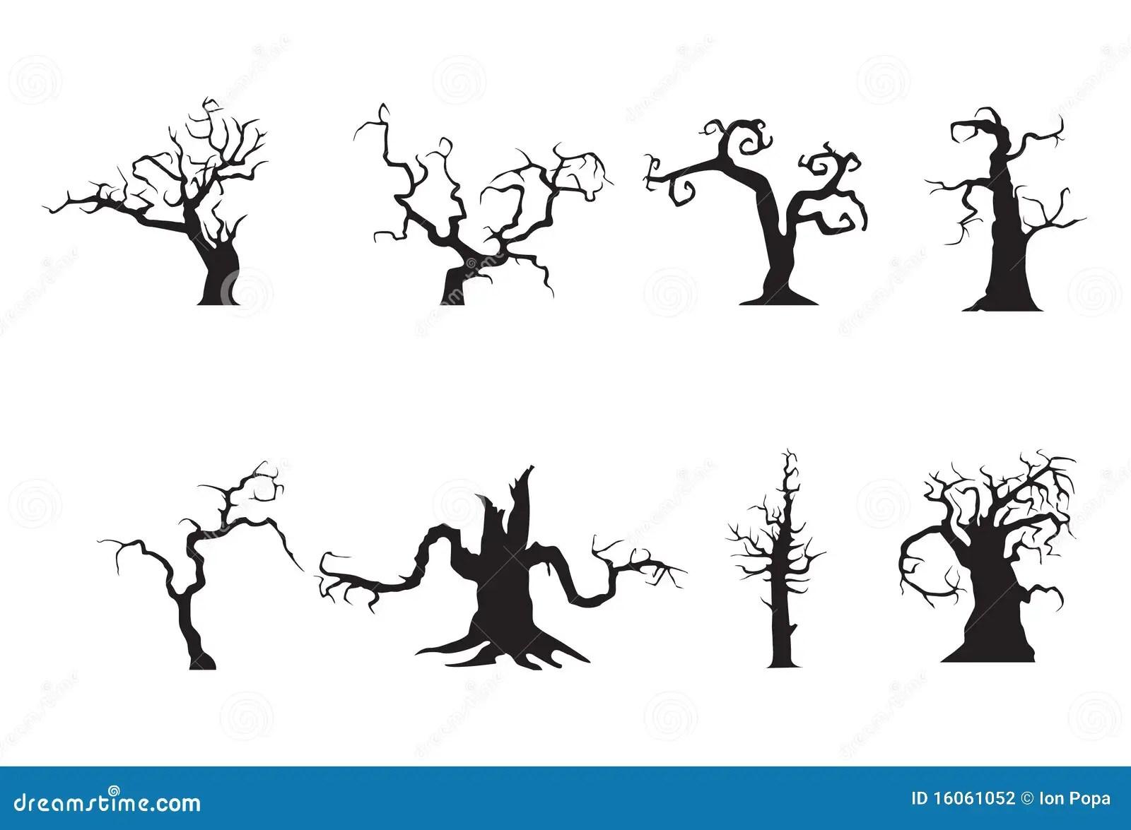 Halloween Scary Trees Stock Photography