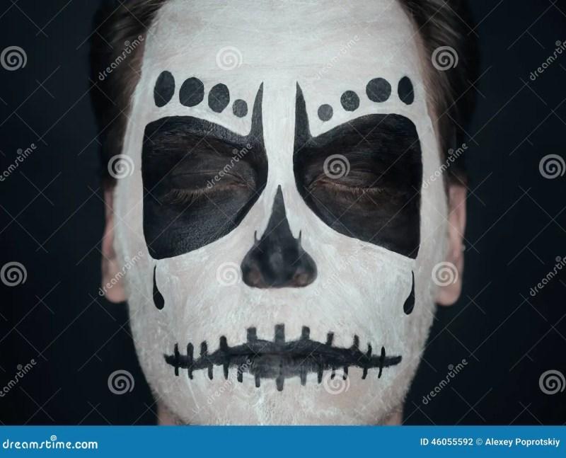 Halloween Skull Man Stock Photo Image
