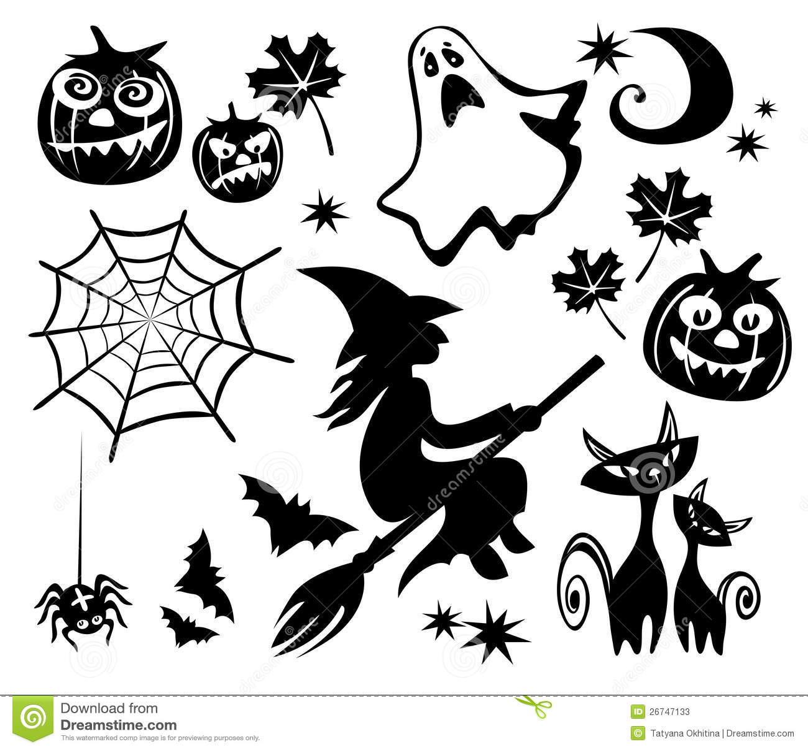 Halloween Symbols Set Stock Vector Illustration Of