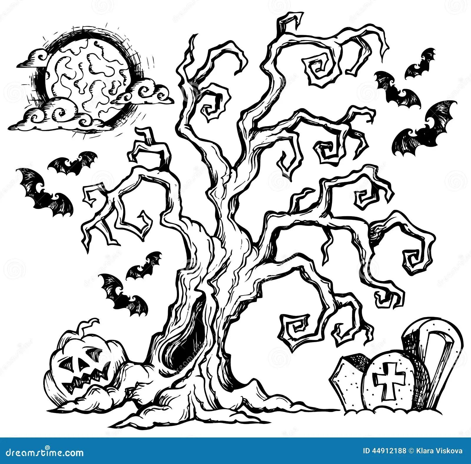 Halloween Theme Drawing 4 Stock Vector Illustration Of