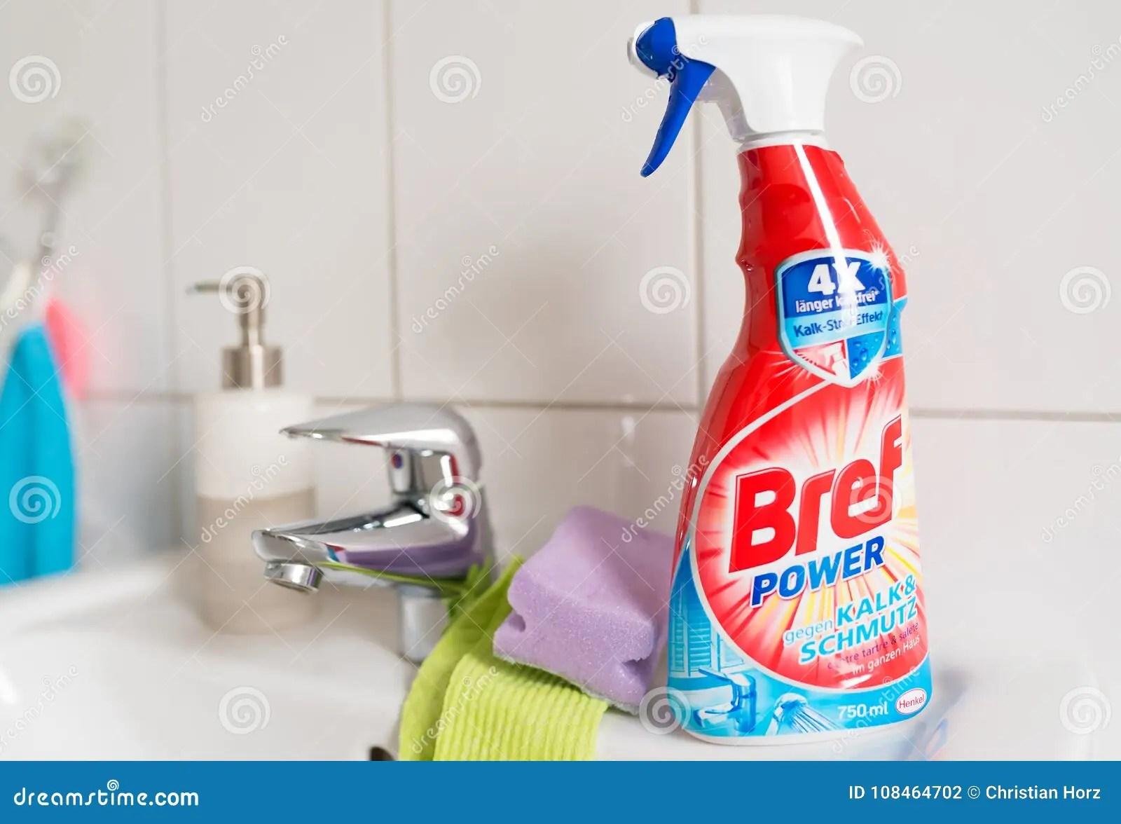https www dreamstime com hamburg germany illustrative editorial bref power bathroom cleaner spray bathroom sink bref power bathroom cleaner spray image108464702