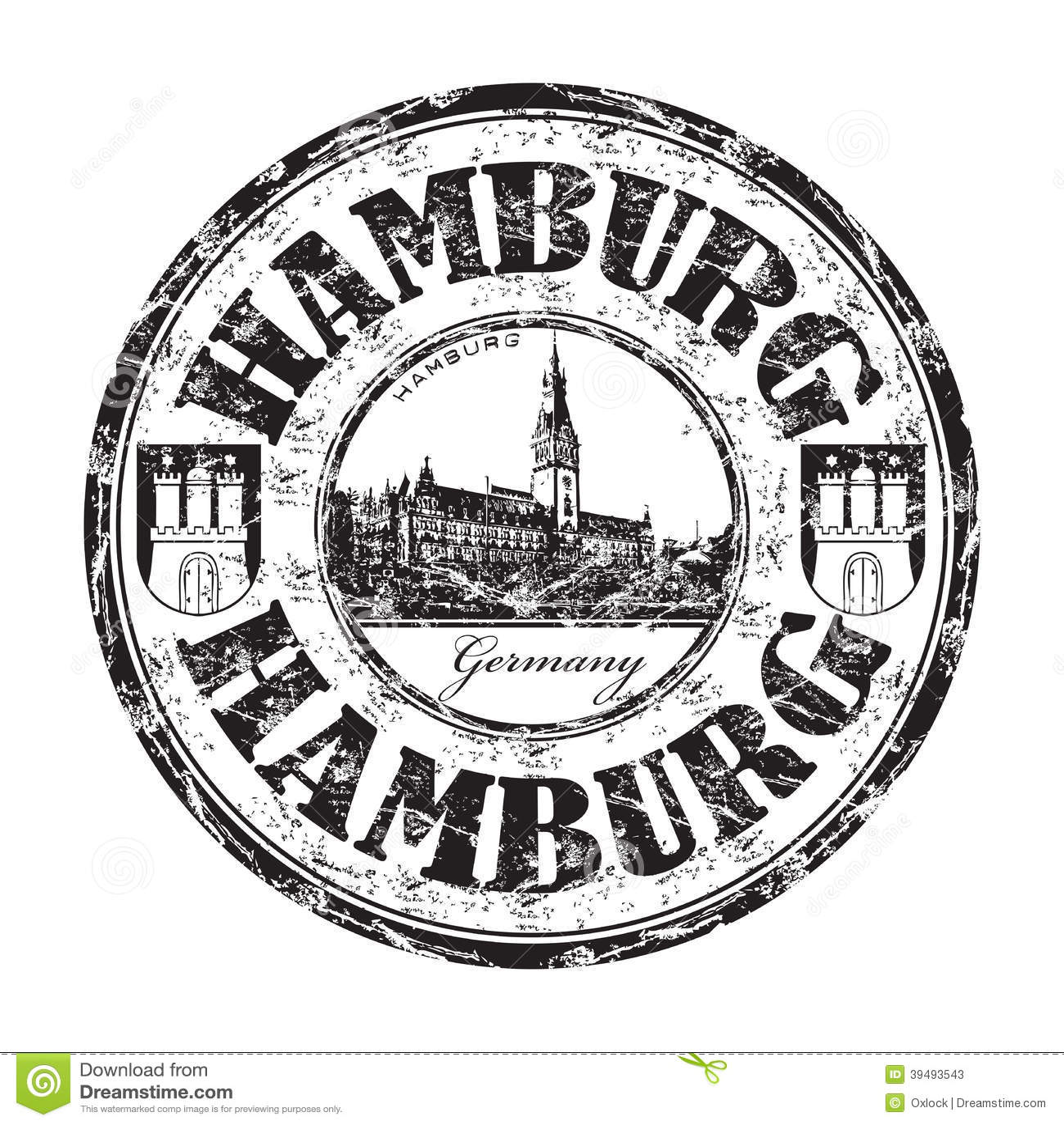 Hamburg Grunge Rubber Stamp Stock Vector