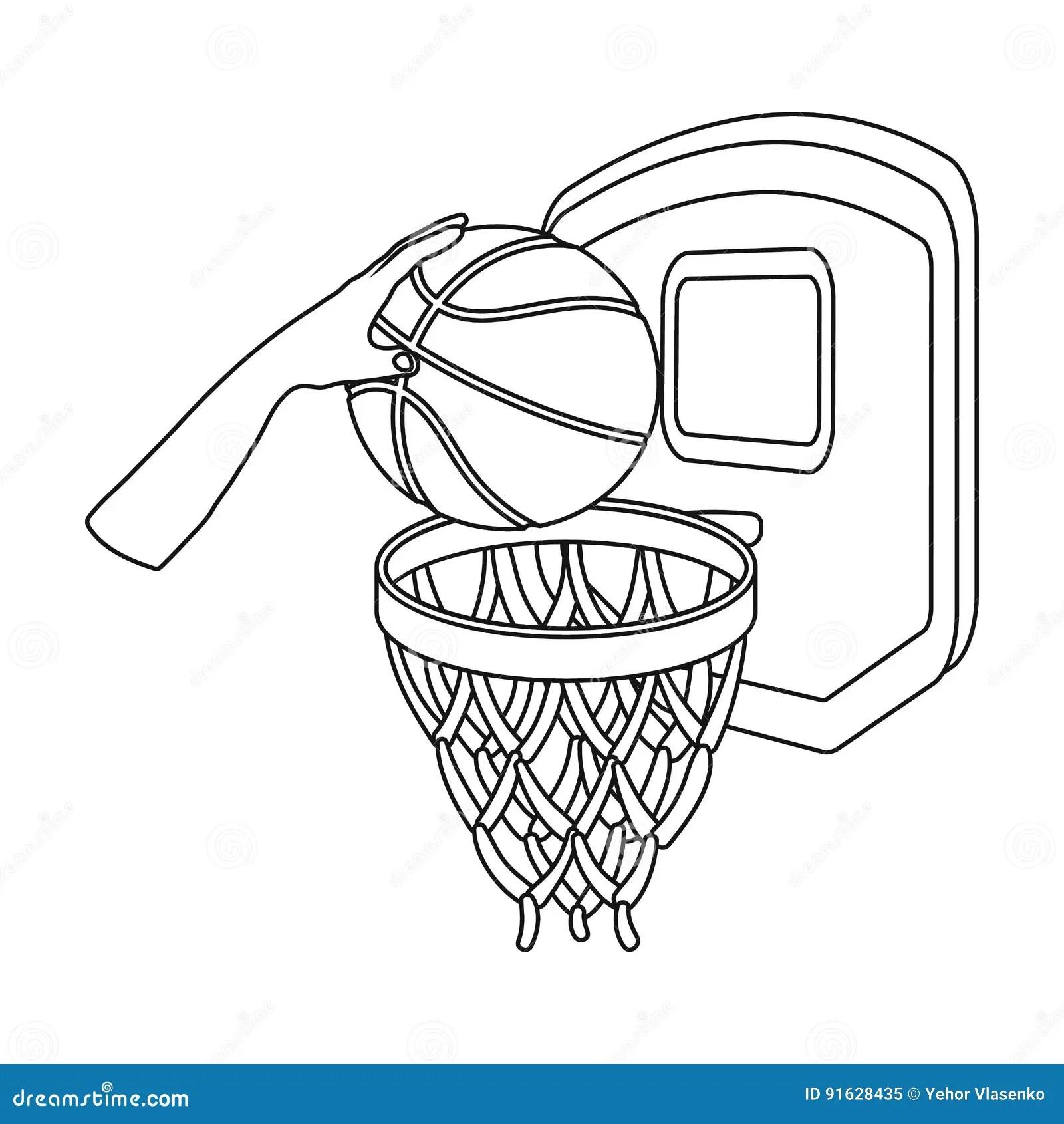 Basketball Hoop Sport Basket Vector Illustration Vector Illustration