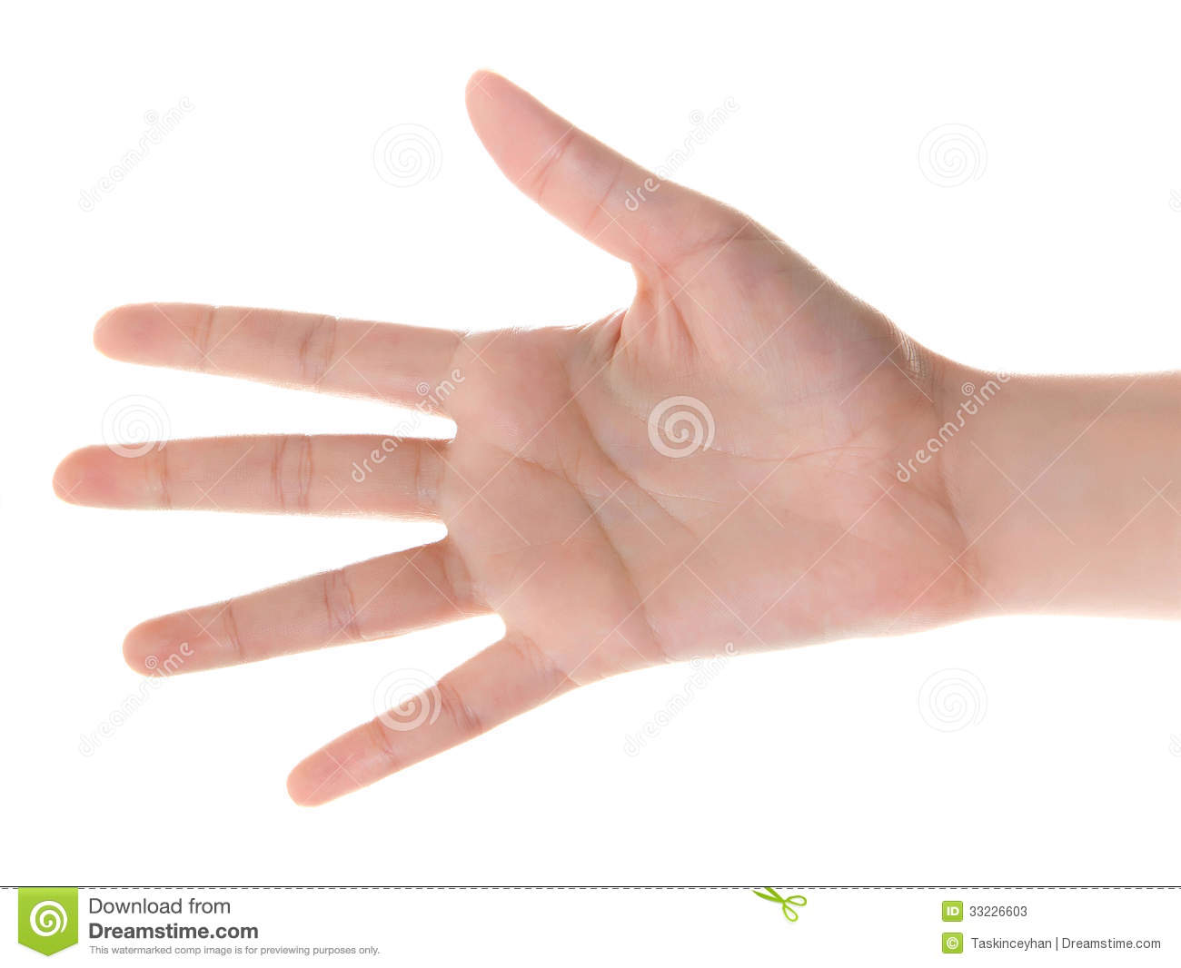 Hand Counting Five Stock Photos