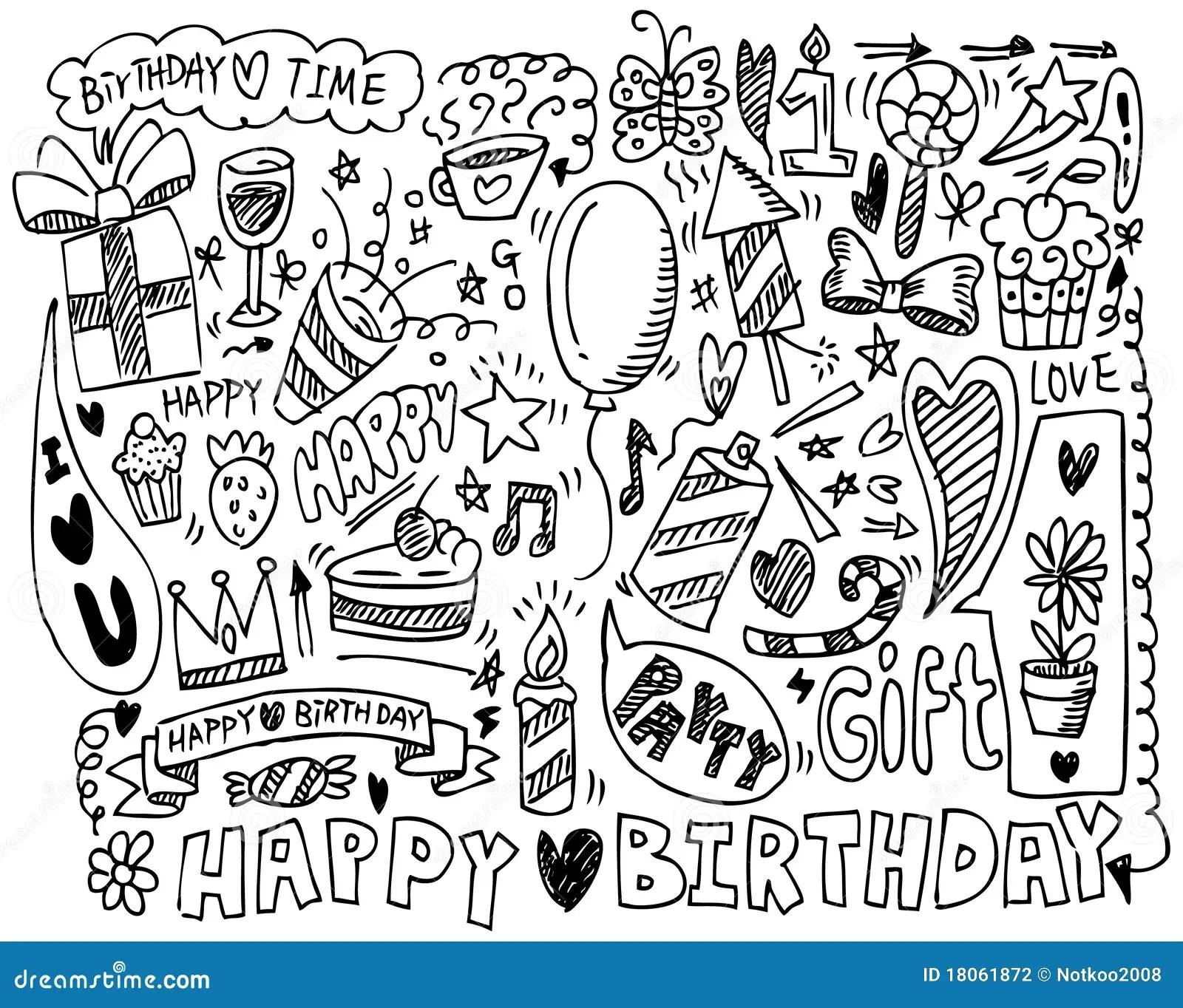 Pin Hand Draw Birthday Element Drawing Cake