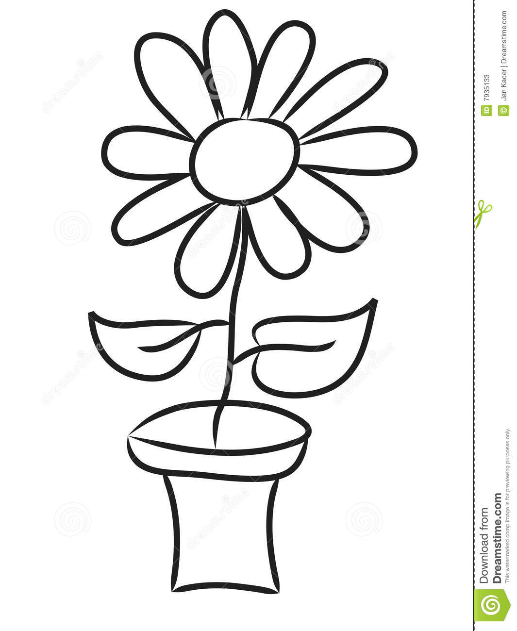 Hand Draw Flowers Stock Illustration Image Of Draw Form