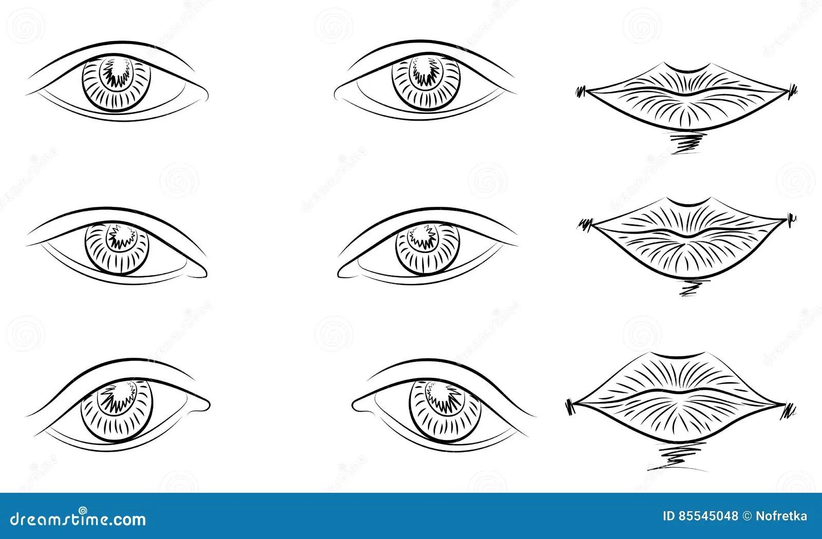 Eyes Types Of Strabismus Vector Illustration