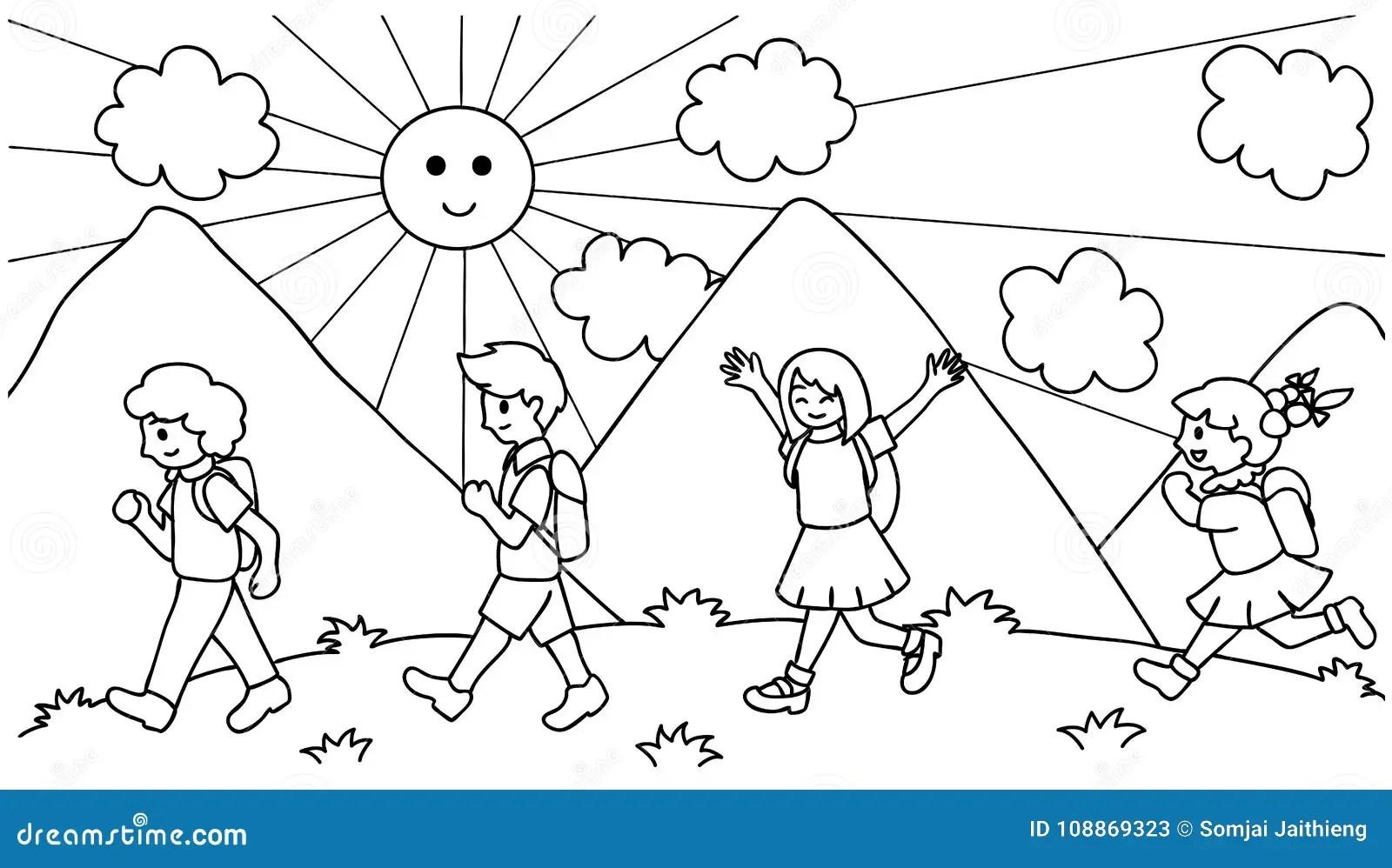 Kids Walking Stock Illustrations 3 645 Kids Walking Stock Illustrations Vectors Amp Clipart