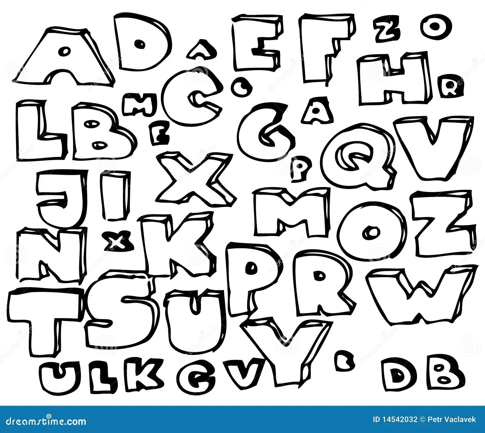 Hand Drawn Doodle Alphabet Stock Photography Image 14542032