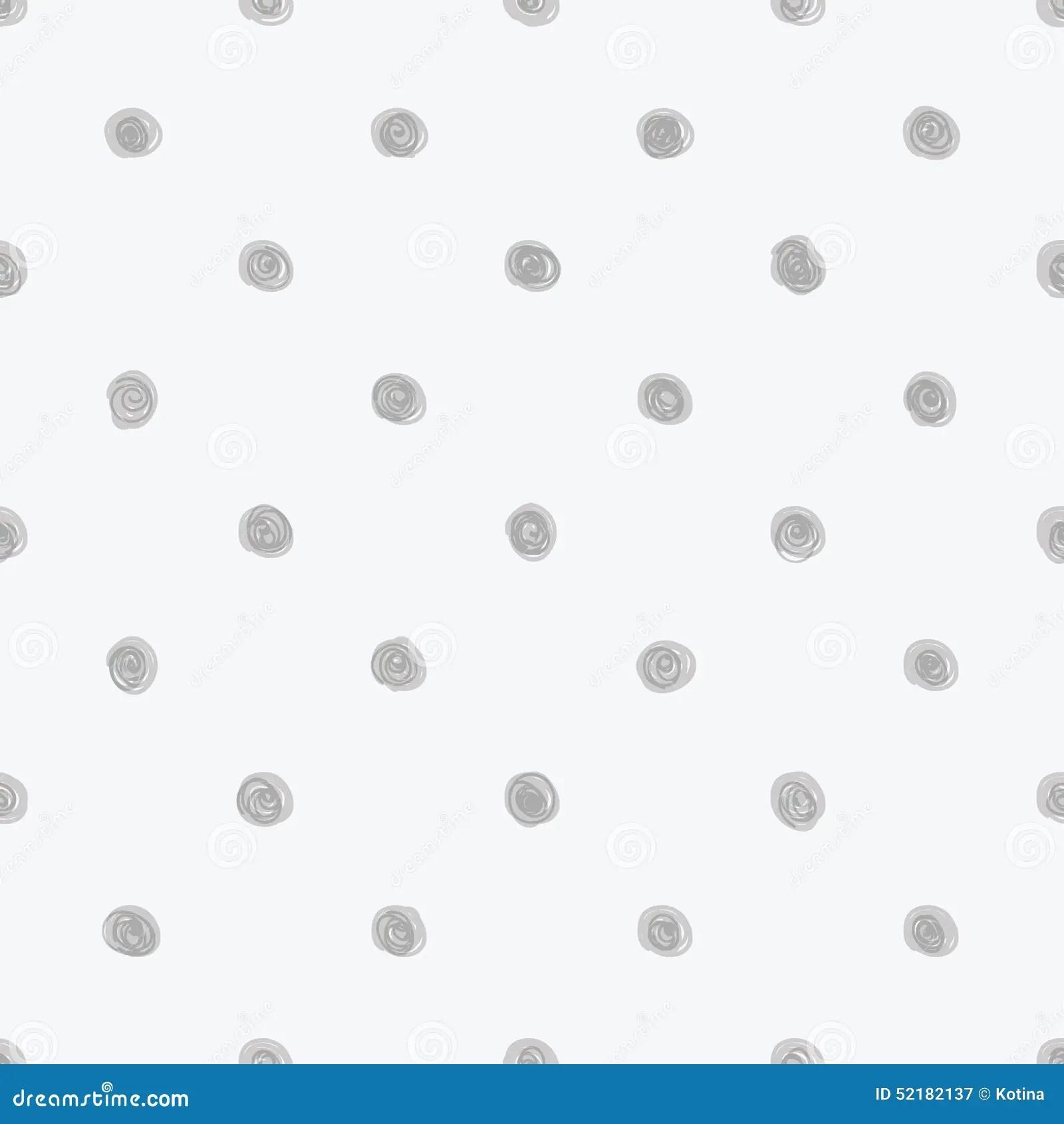 Hand Drawn Doodle Polka Dot Texture Seamless Soft Grey