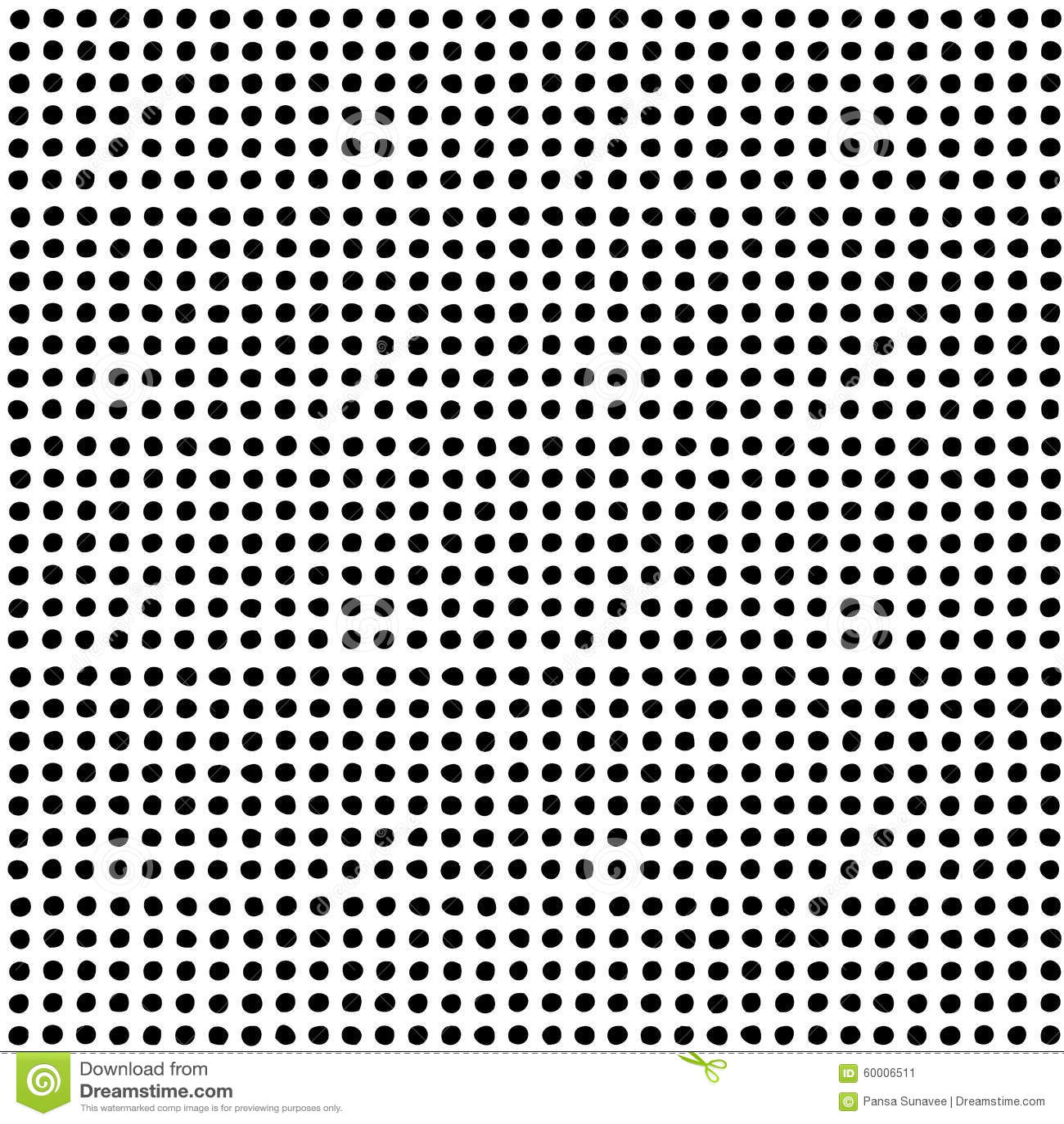 Hand Drawn Dot Pattern Stock Vector Illustration Of