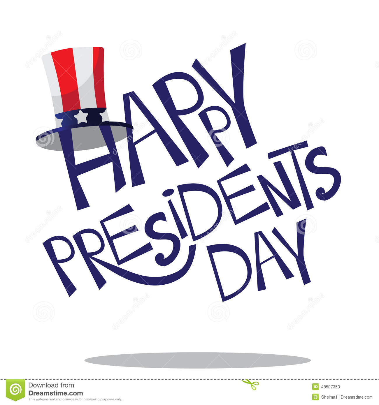 Hand Drawn Presidents Day Lettering Stock Vector