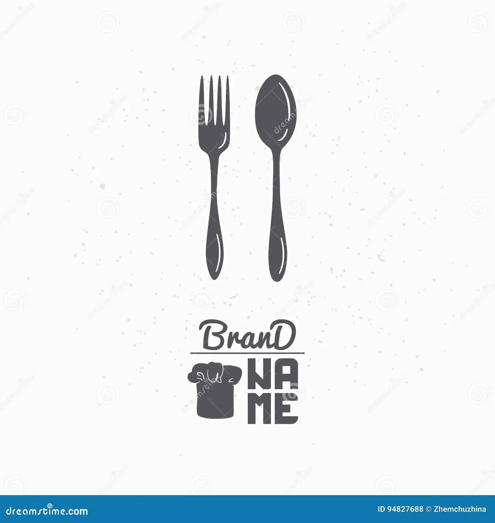 Restaurant Logo Fork Cartoon Vector 33633023