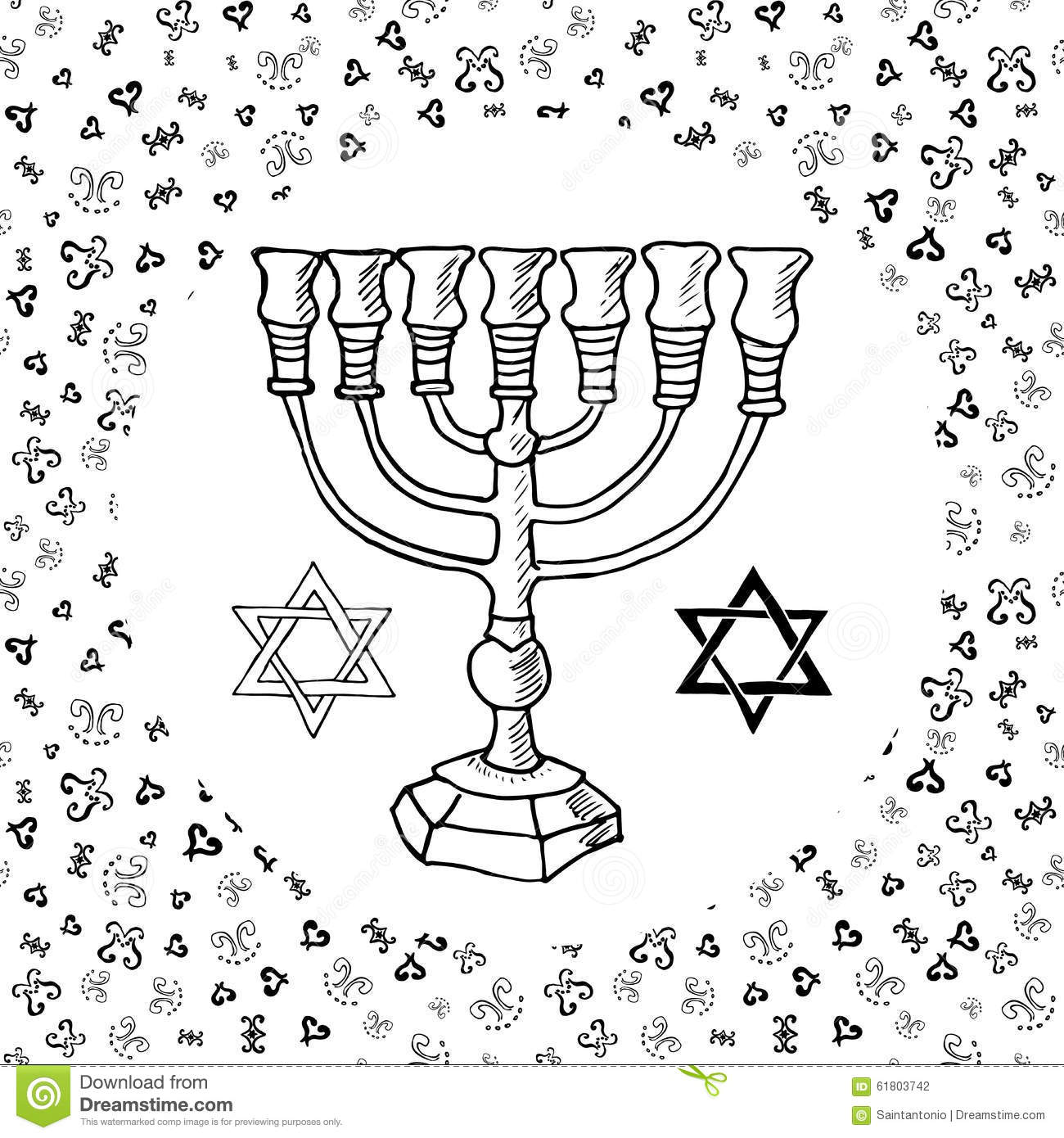 Menorah Jewish Hanukkah Candle Holder Royalty Free Stock