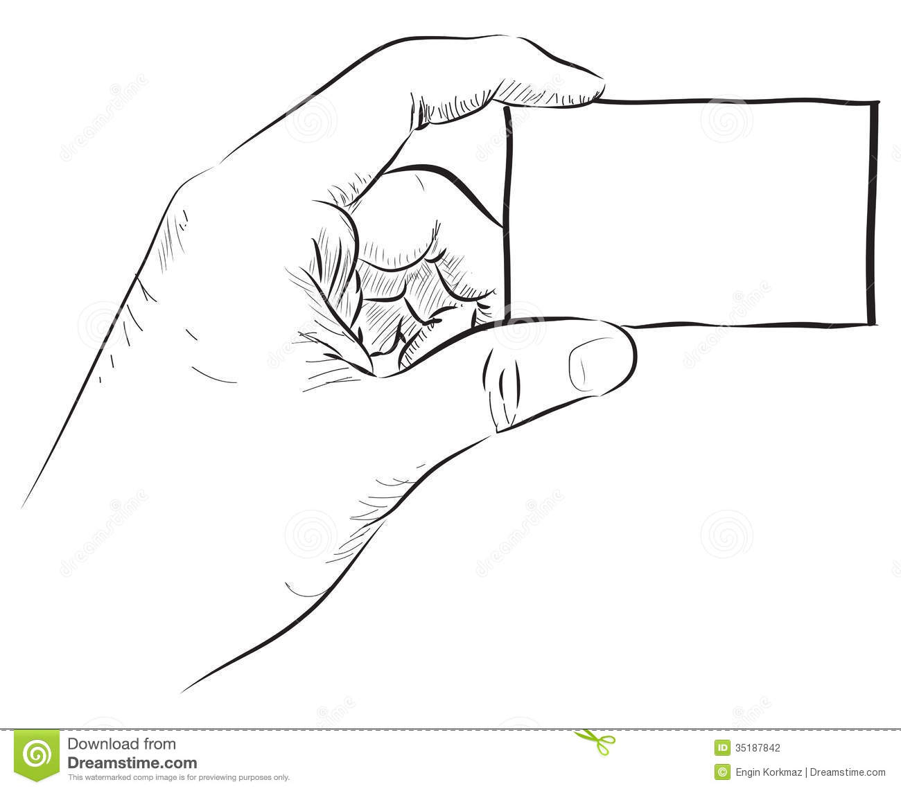 Hand Holding Blank Card Stock Photography