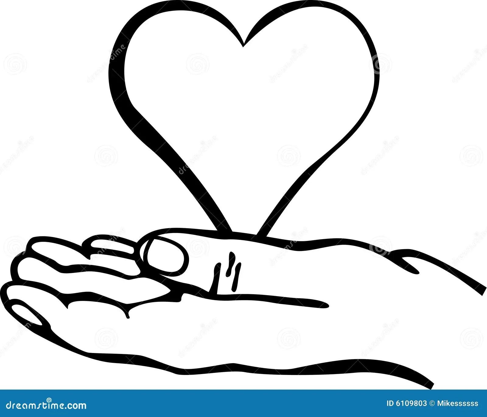 Hand Holding A Heart Vector Illustration Stock Vector