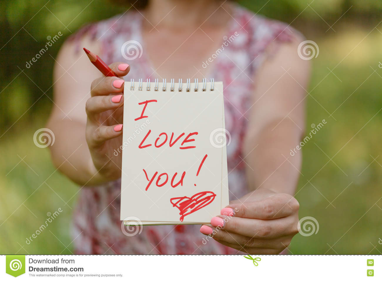 Heart And Text I Love You Royalty Free Stock Photo