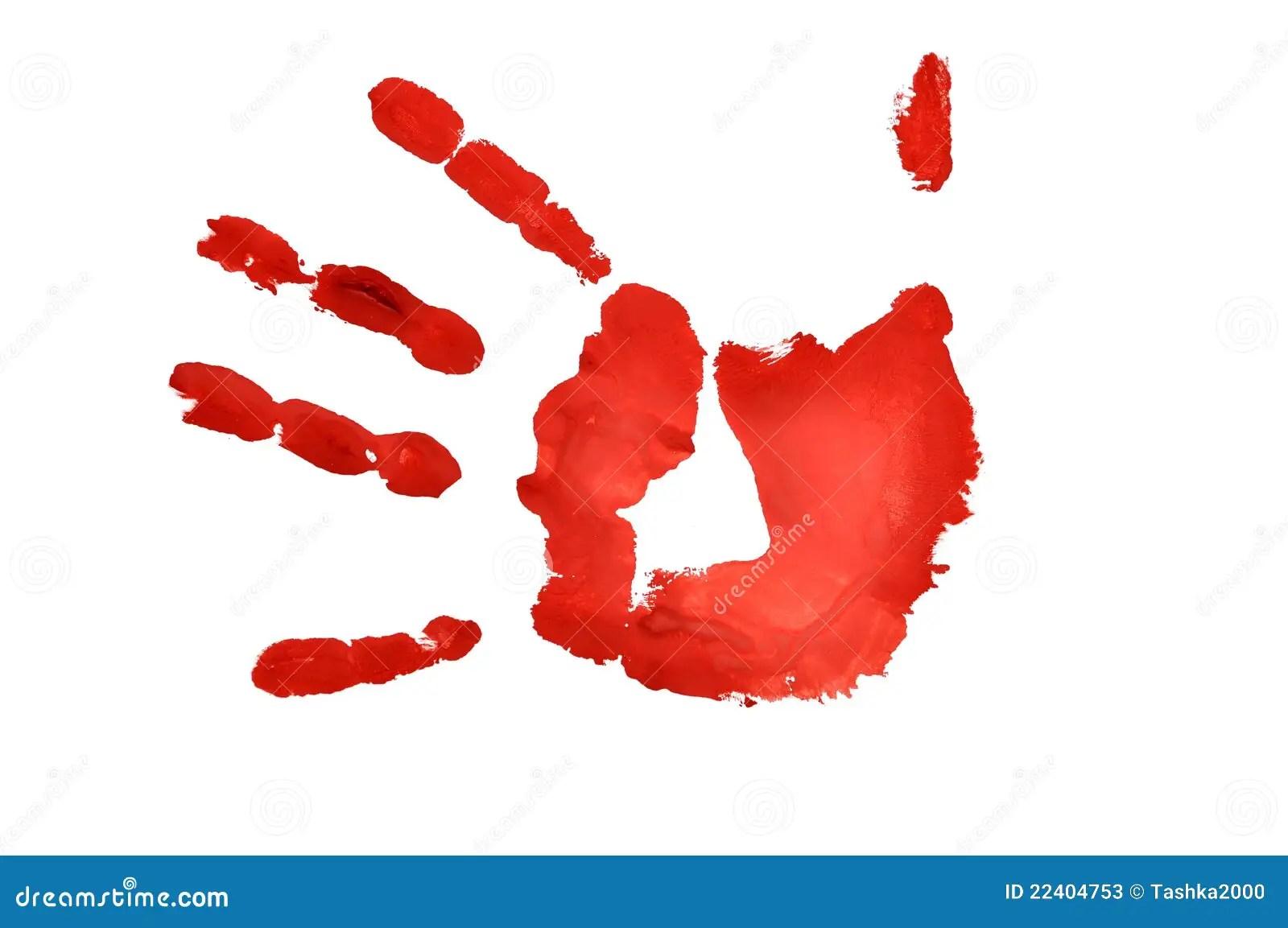 Hand Imprint Stock Illustration Image Of Print Finger