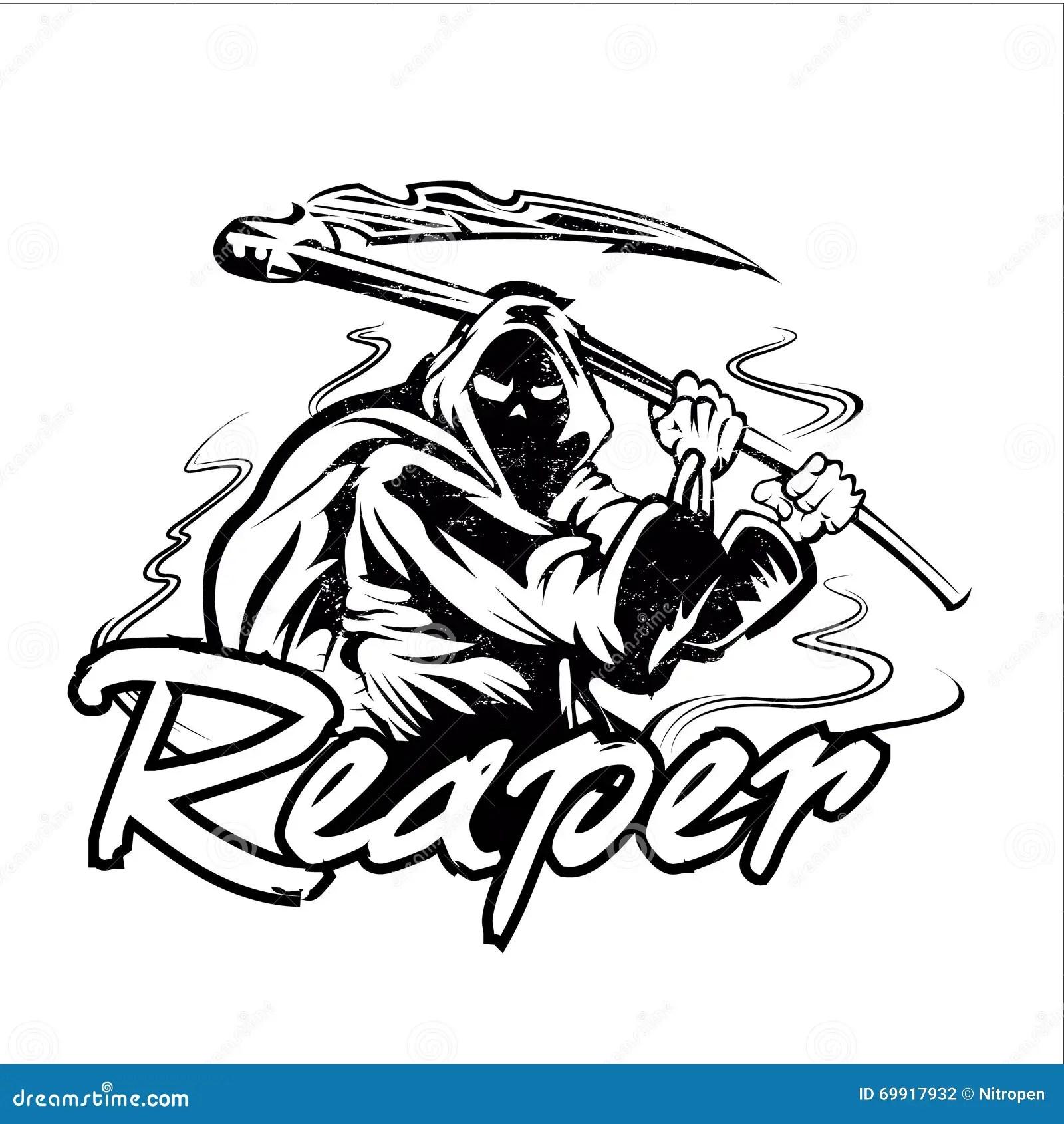 Grim Reaper Illustration Royalty Free Stock Image