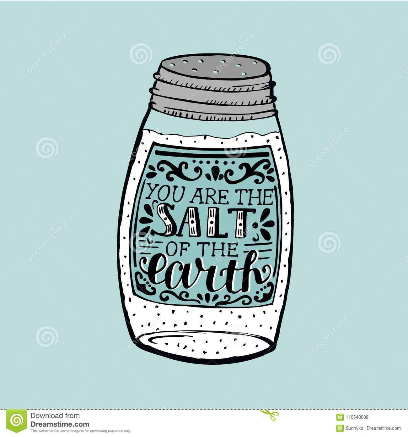 Hand Lettering You Are The Salt Of The Earth Made On