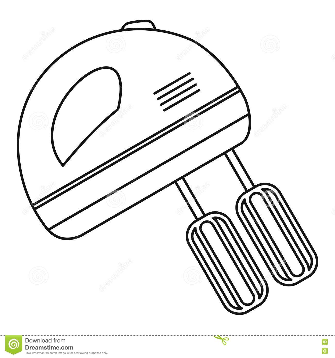 Hand Mixer Icon Outline Style Stock Vector