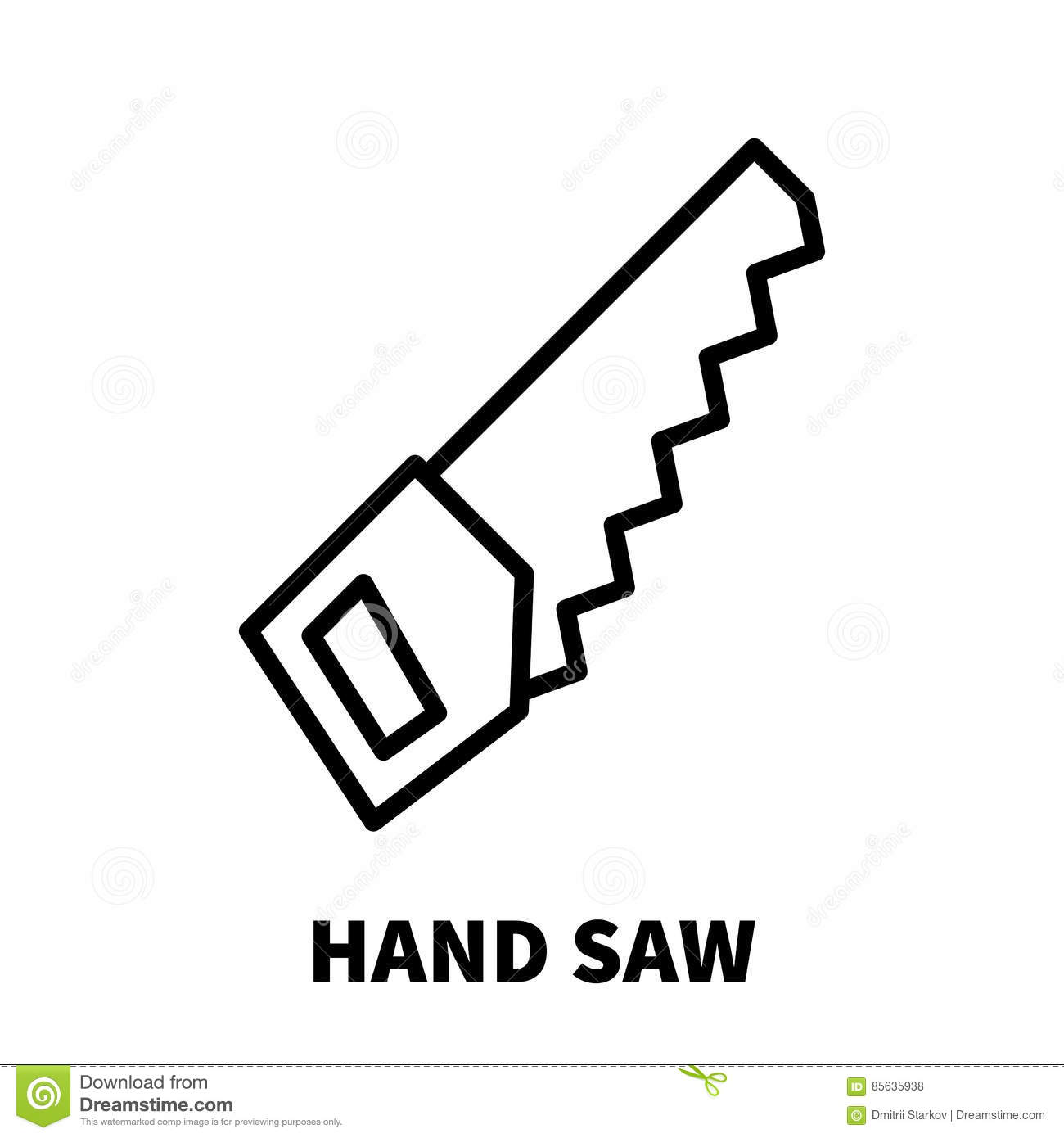 Hacksaw Icon Outline Style Vector Illustration