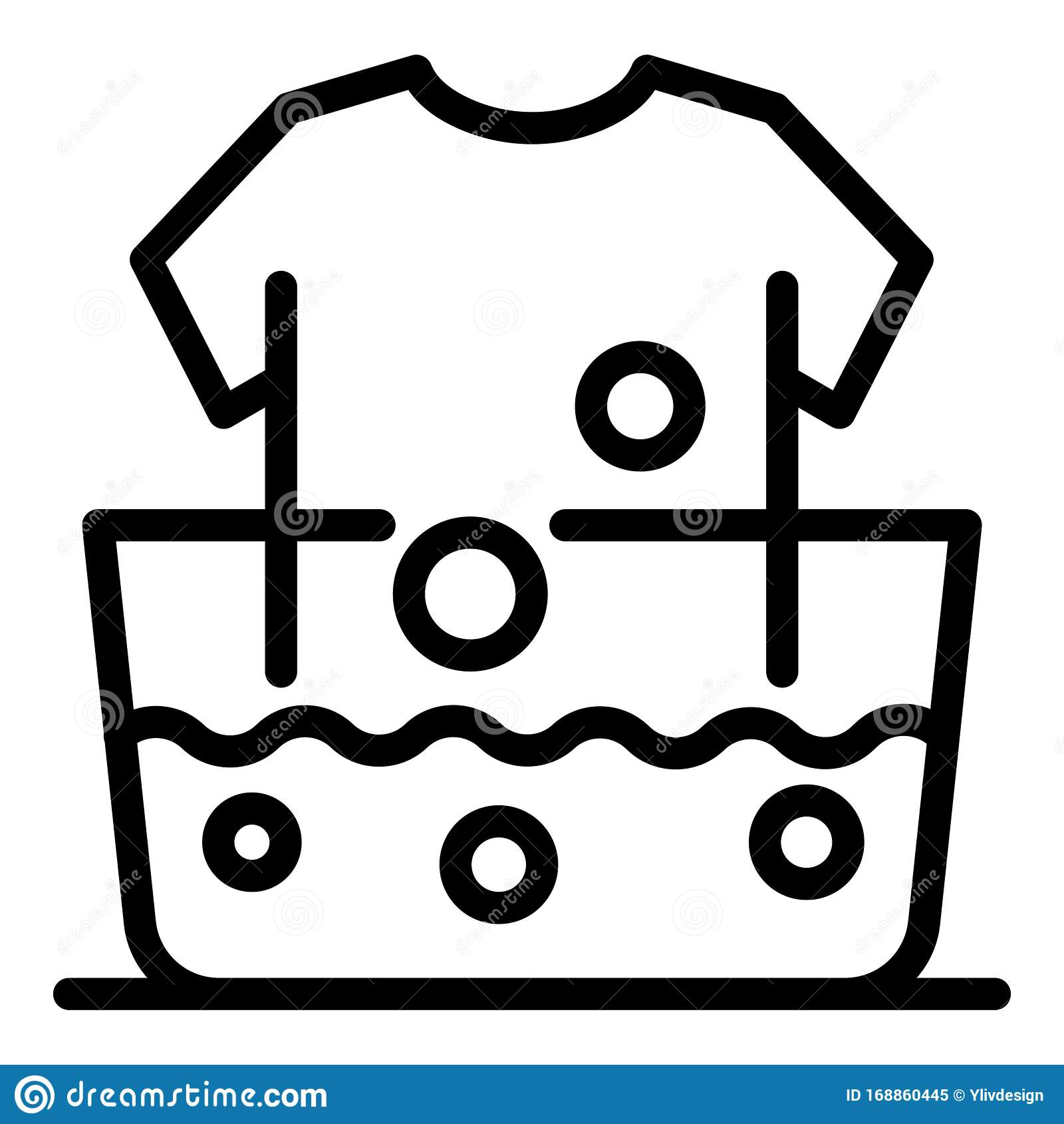 Hand Wash Clothes Icon Outline Style Stock Vector
