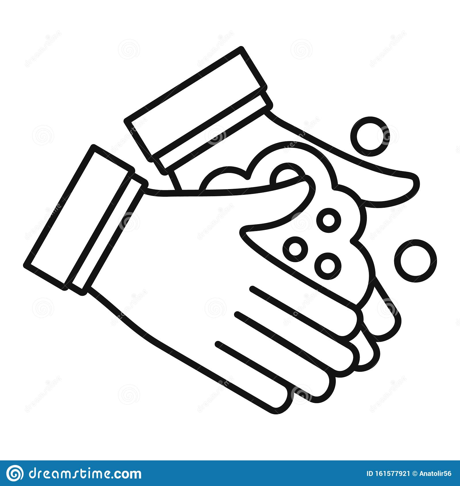 Hand Washing Icon Outline Style Stock Vector