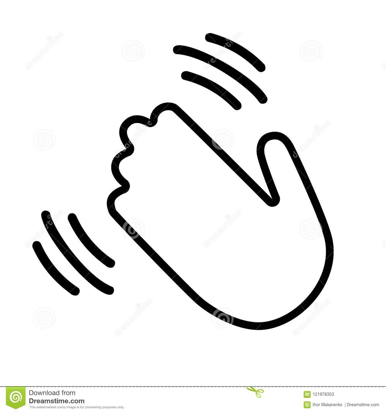Hand Wave Hi Or Hello Stock Vector Illustration Of Hail
