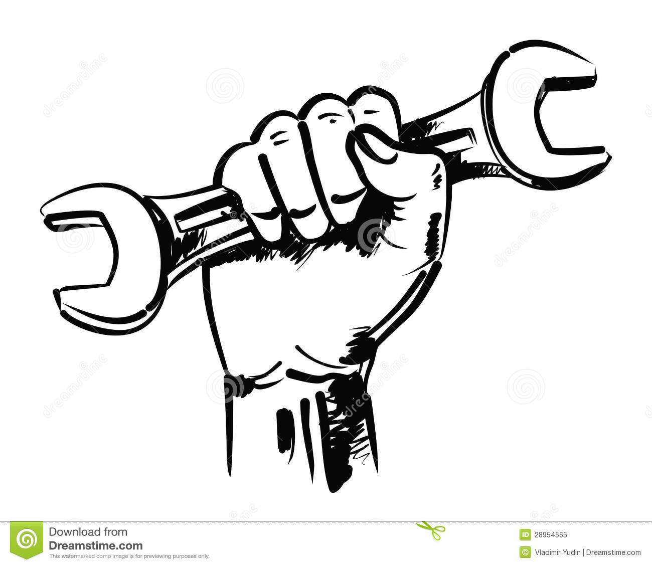 Hand And Wrench Stock Vector Illustration Of Factory