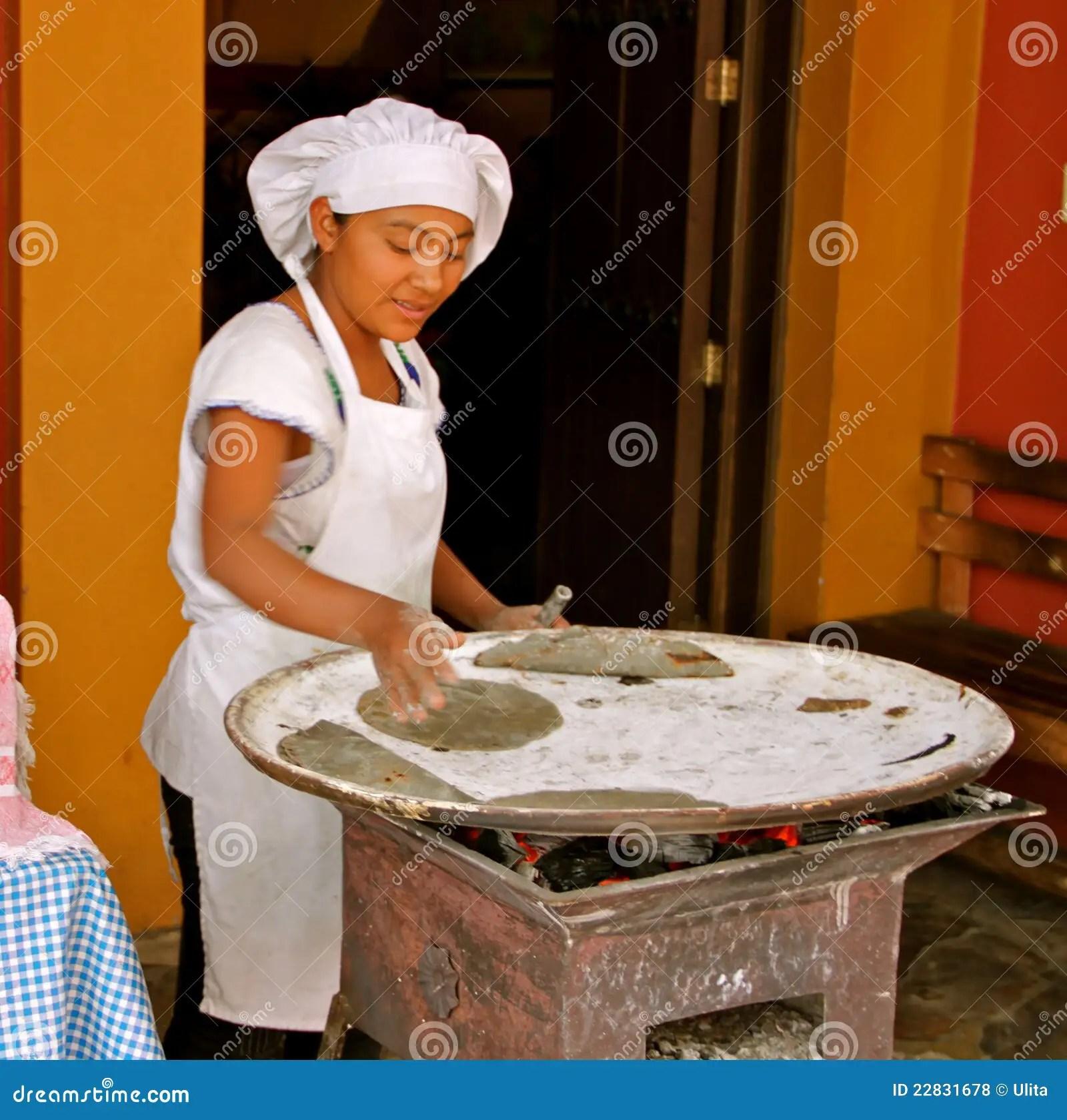 Handmade Mexican Corn Tortillas Editorial Stock Photo