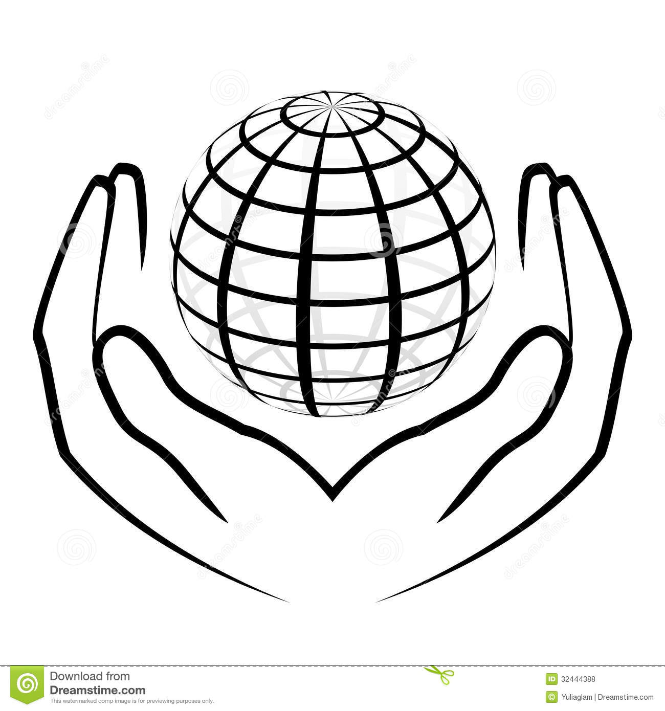 Hands Holding A Globe Stock Vector Illustration Of
