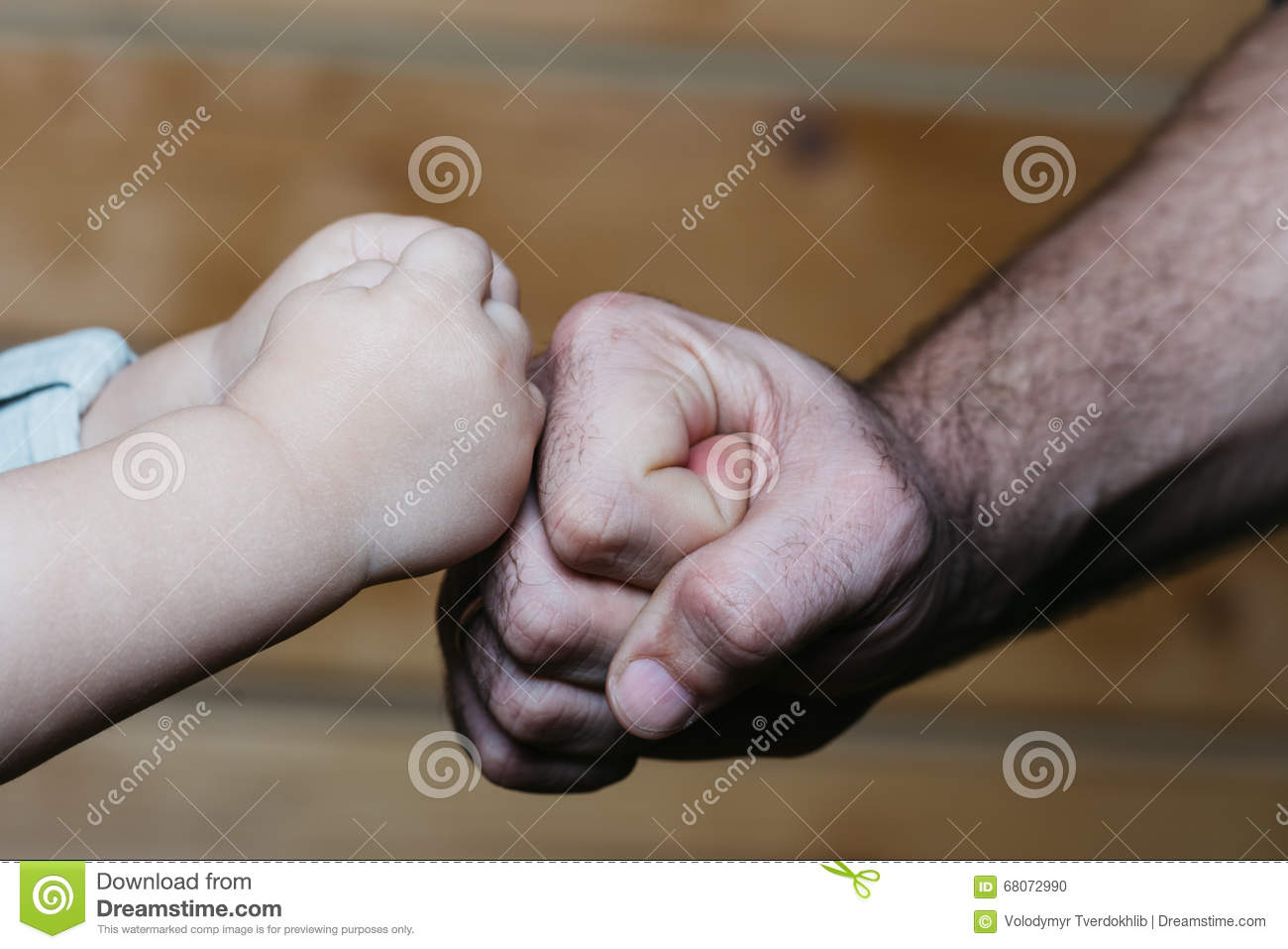Hands Of Son And Father Stock Photo Image Of