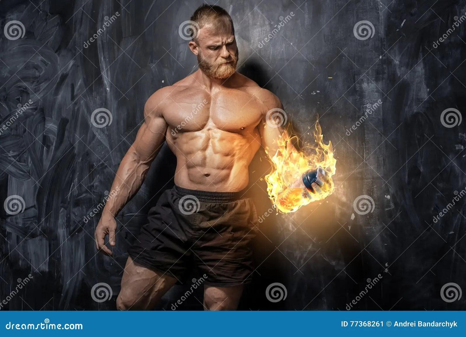 Handsome Bodybuilder Stock Images