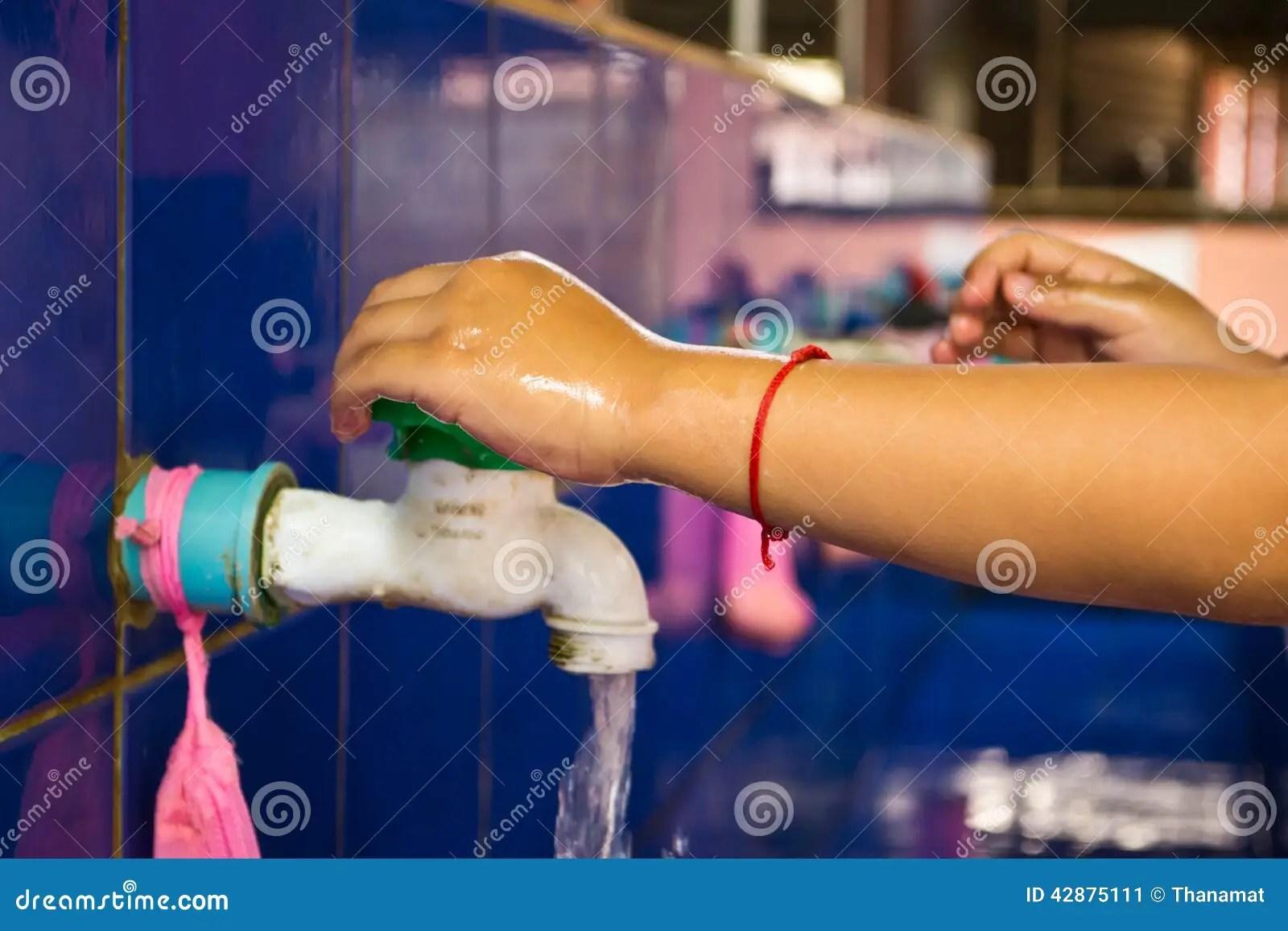 Handwashing Teachers That Schools Are Teaching Children To Wash Stock Photo