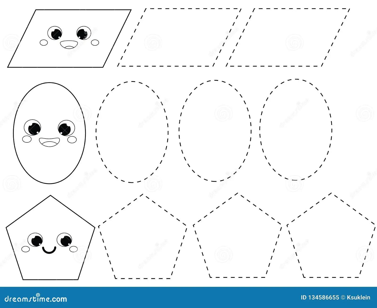 Handwriting Practice Sheet Educational Children Game Printable Worksheet For Kids Tracing