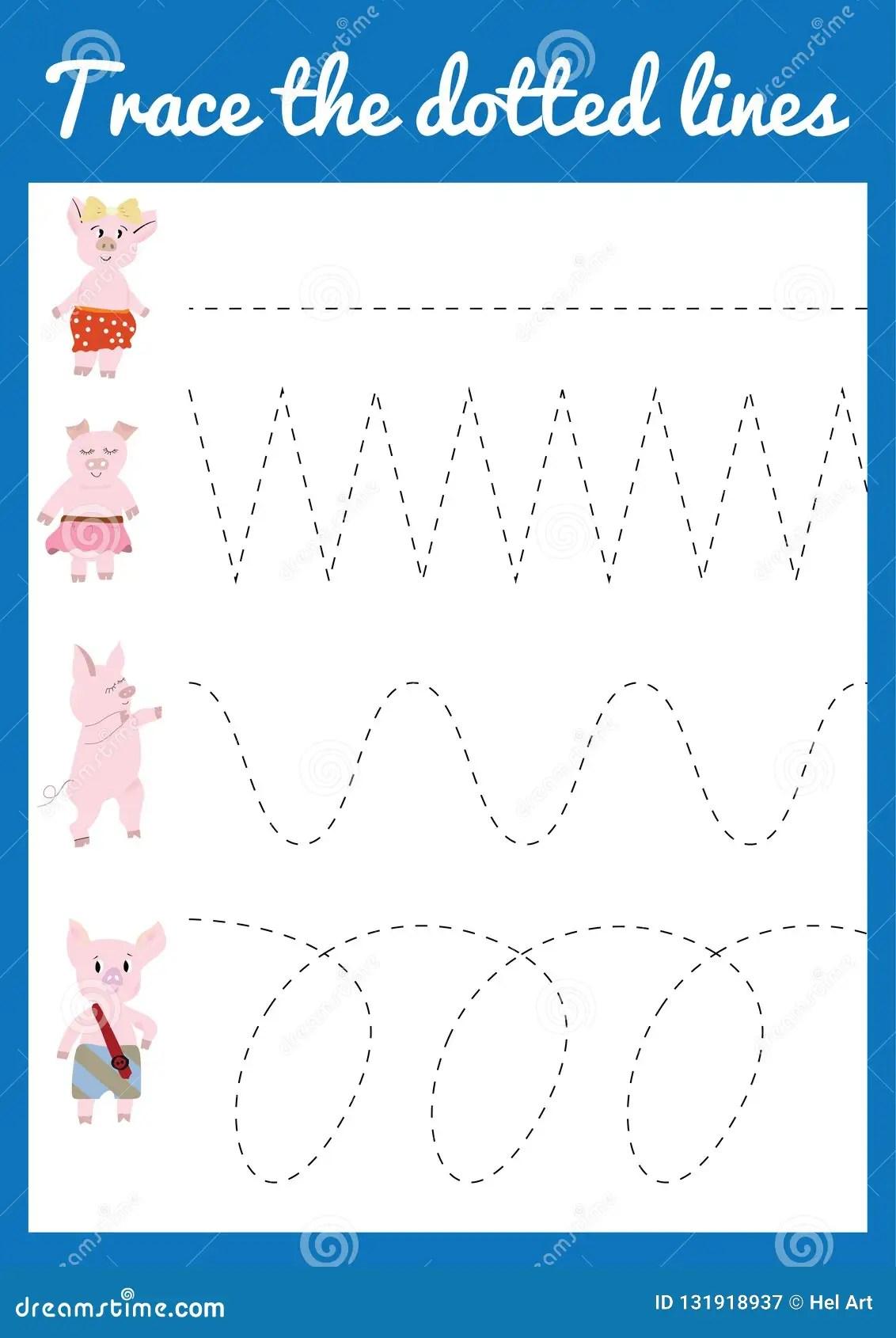 Handwriting Practice Sheet Stock Vector