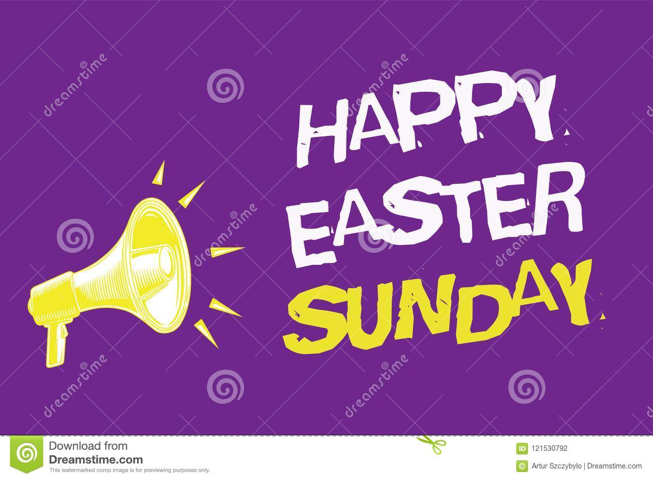 Handwriting Text Happy Easter Sunday Concept Meaning